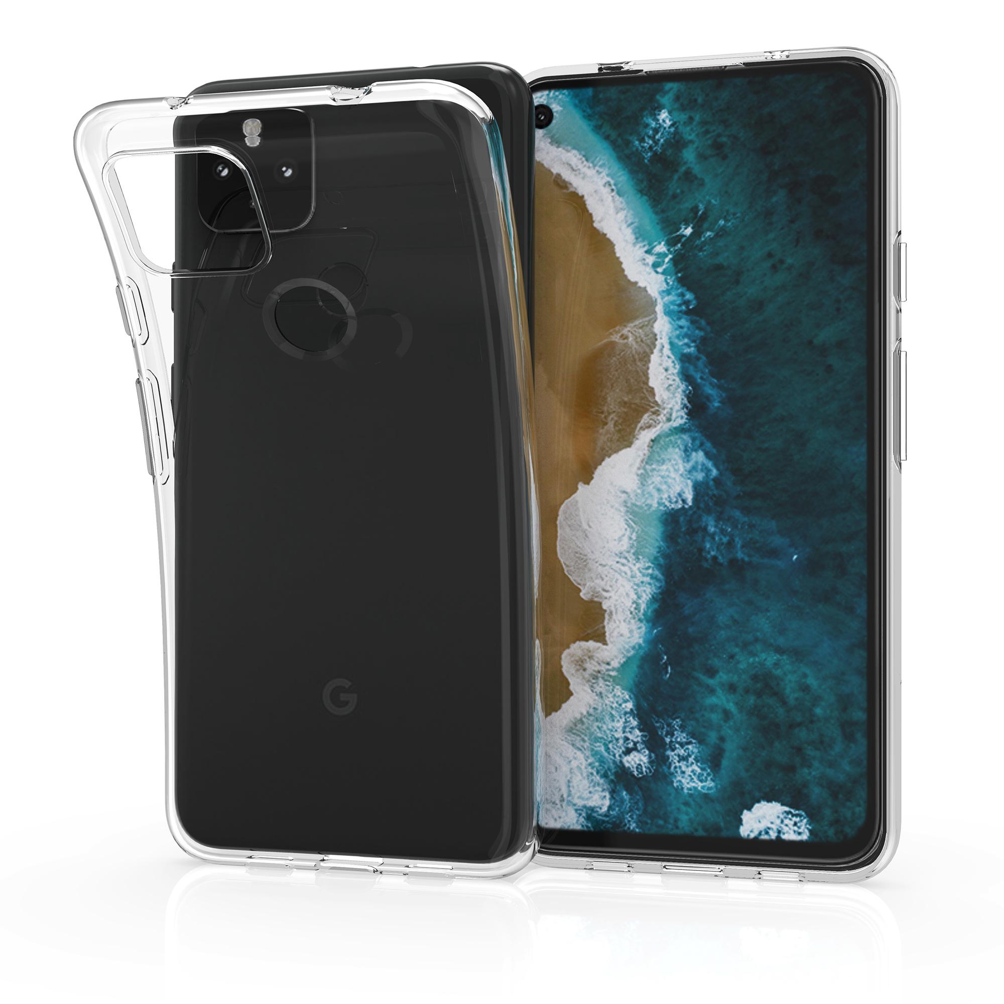 Kvalitní silikonové TPU pouzdro | obal pro Google Pixel 4a 5G -  Transparentní