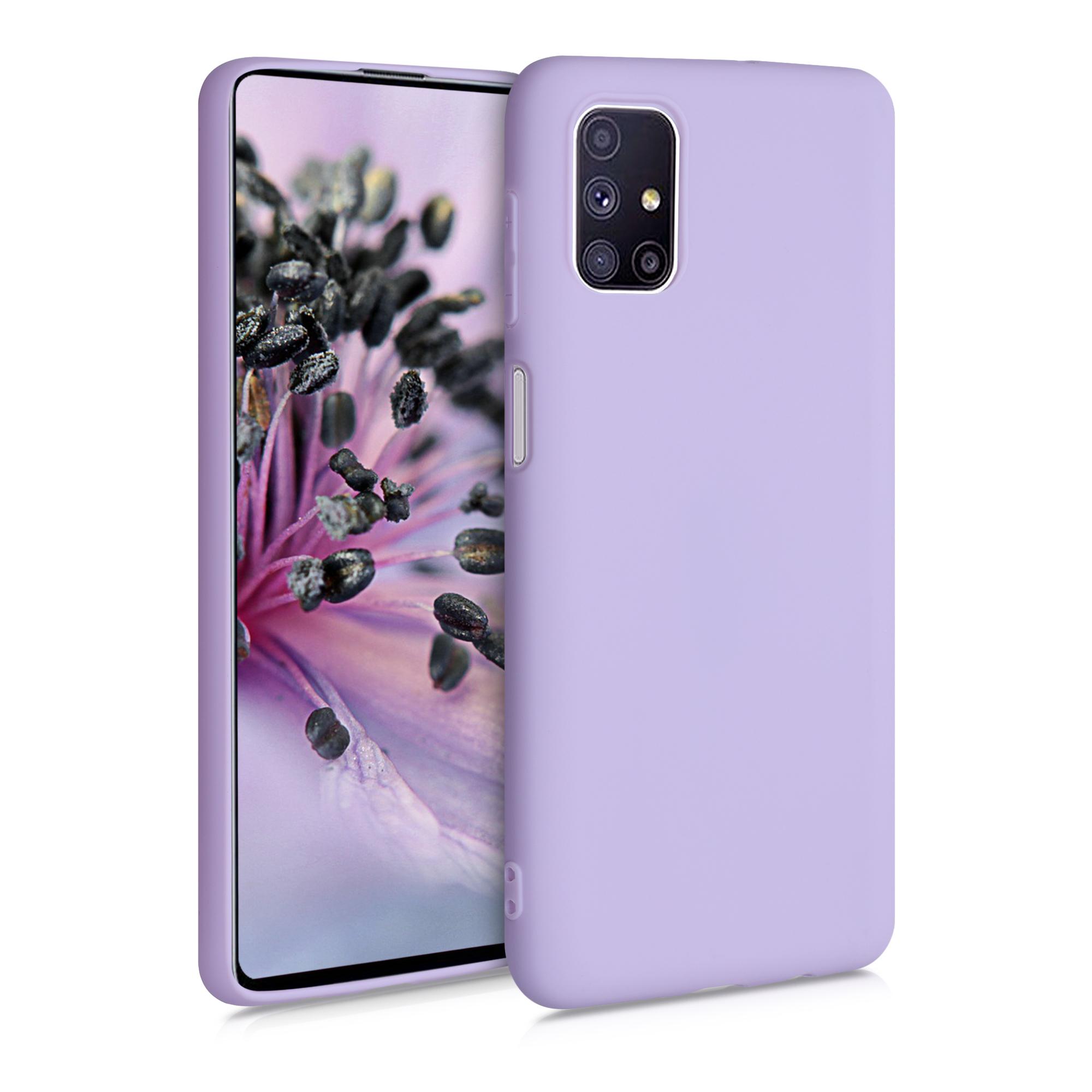 Kvalitní silikonové TPU pouzdro pro Samsung M51 - levandulové fialové