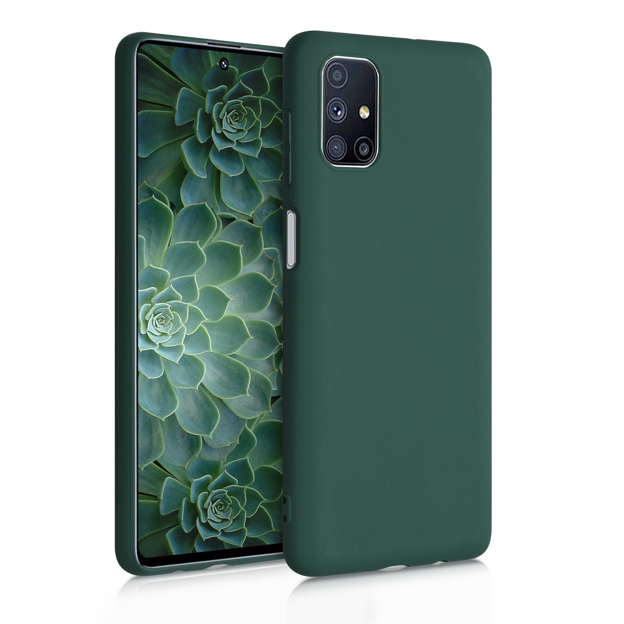 Kvalitní silikonové TPU pouzdro pro Samsung M51 - Moss zelené