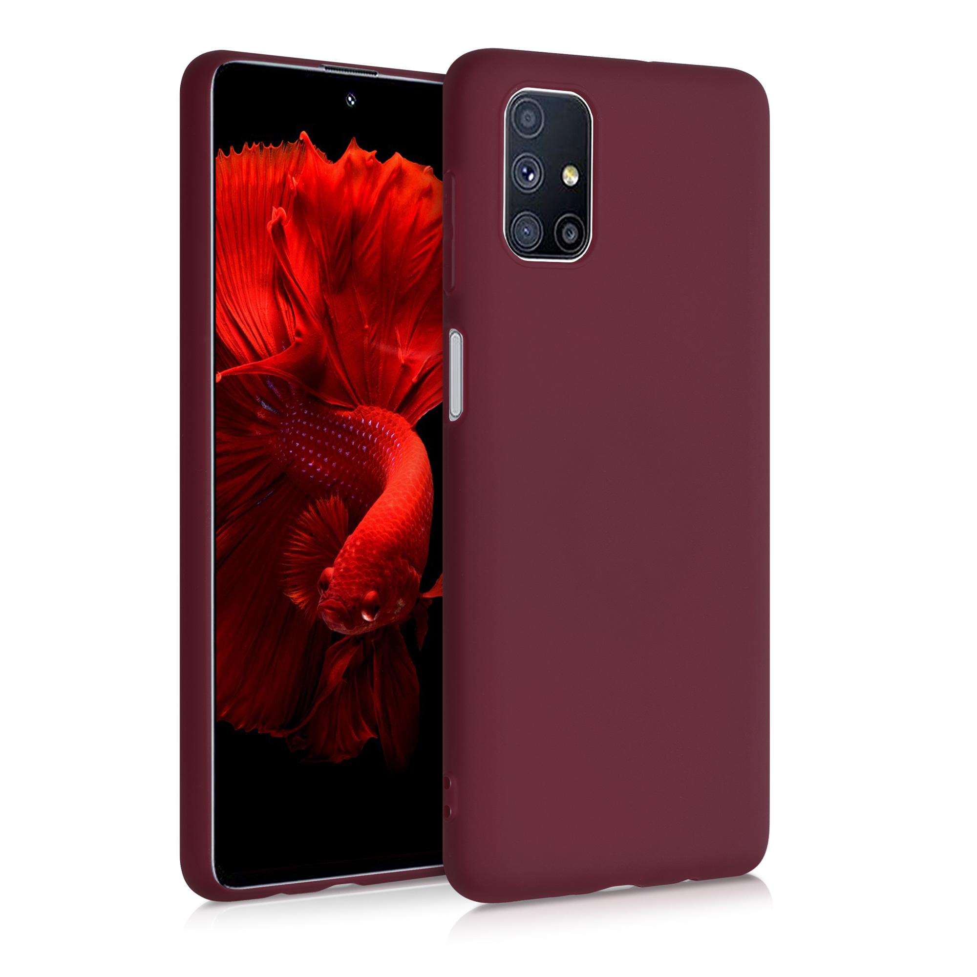 Kvalitní silikonové TPU pouzdro pro Samsung M51 - Tawny červené