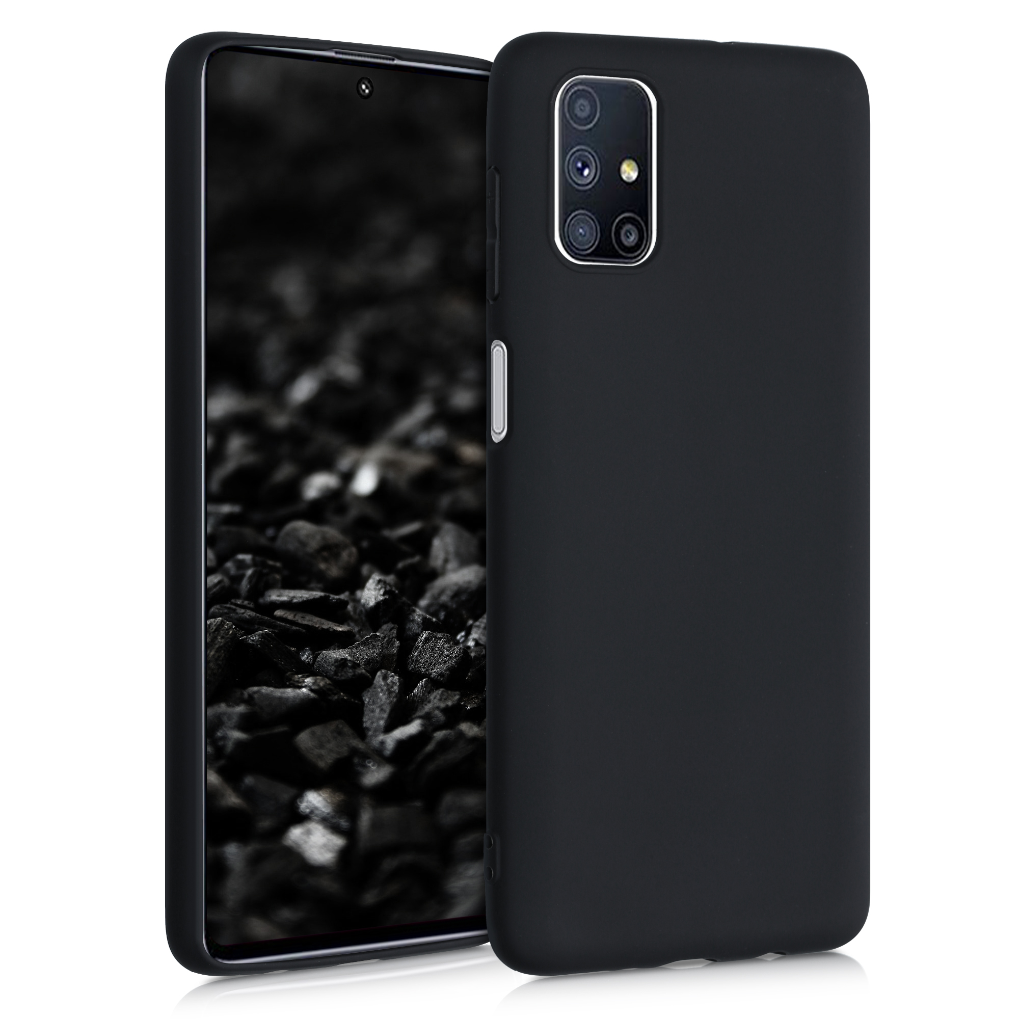 Kvalitní silikonové TPU pouzdro pro Samsung M51 - černé matné