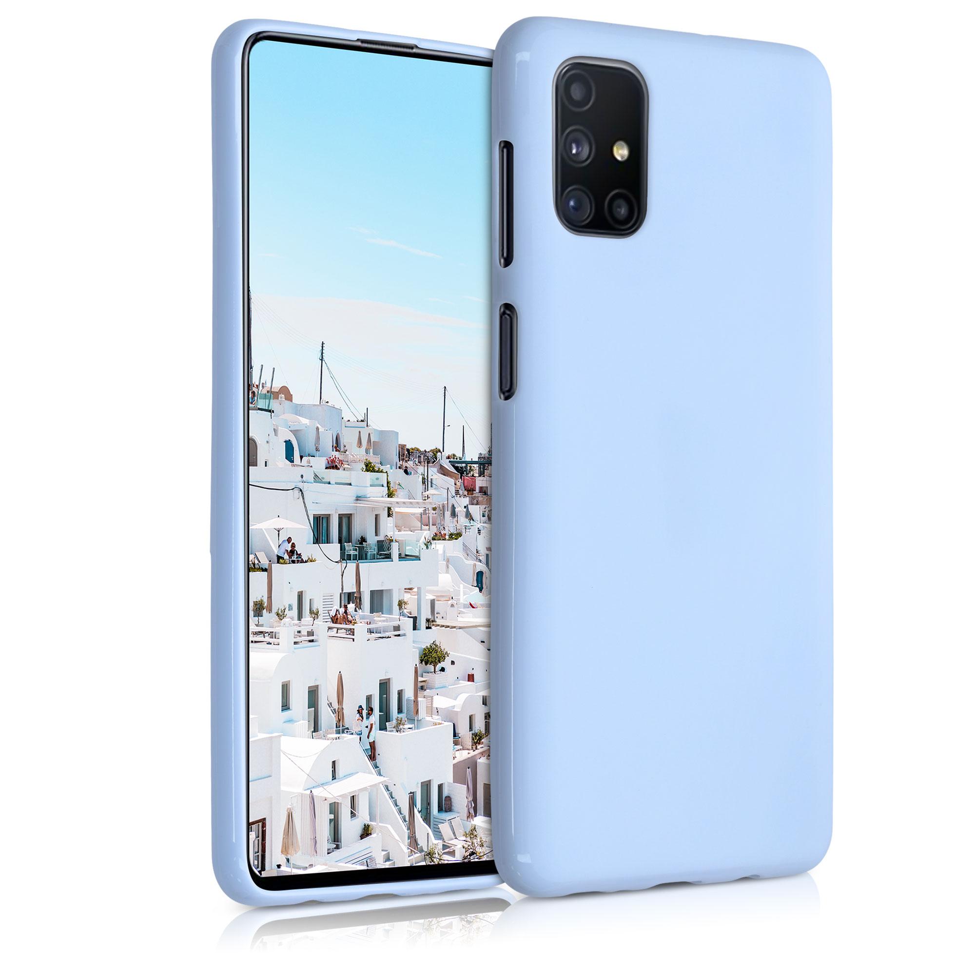 Kvalitní silikonové TPU pouzdro pro Samsung M51 - světle  modré matné