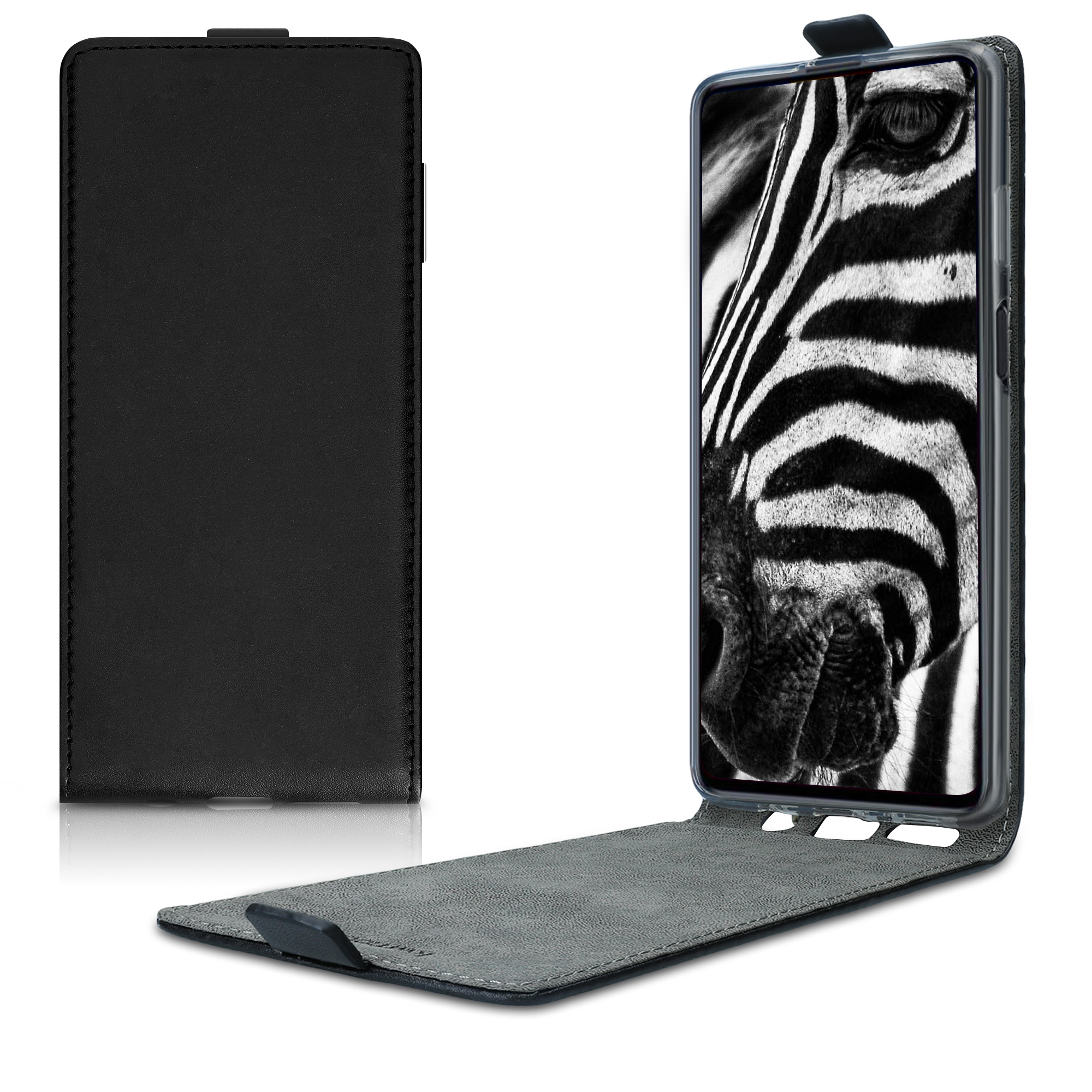 Kožené pouzdro pro Samsung M51 - černé