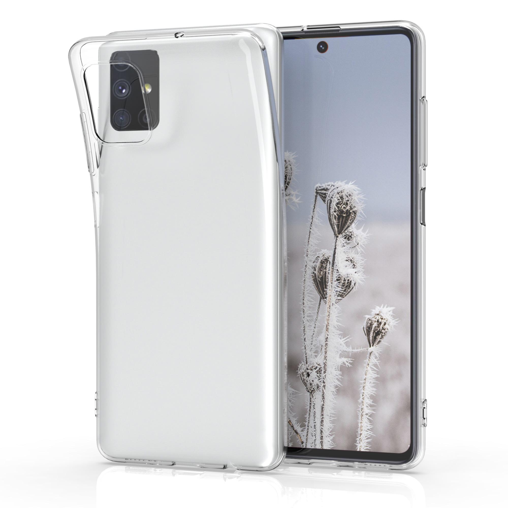 Kvalitní silikonové TPU pouzdro pro Samsung M51 - průhledné