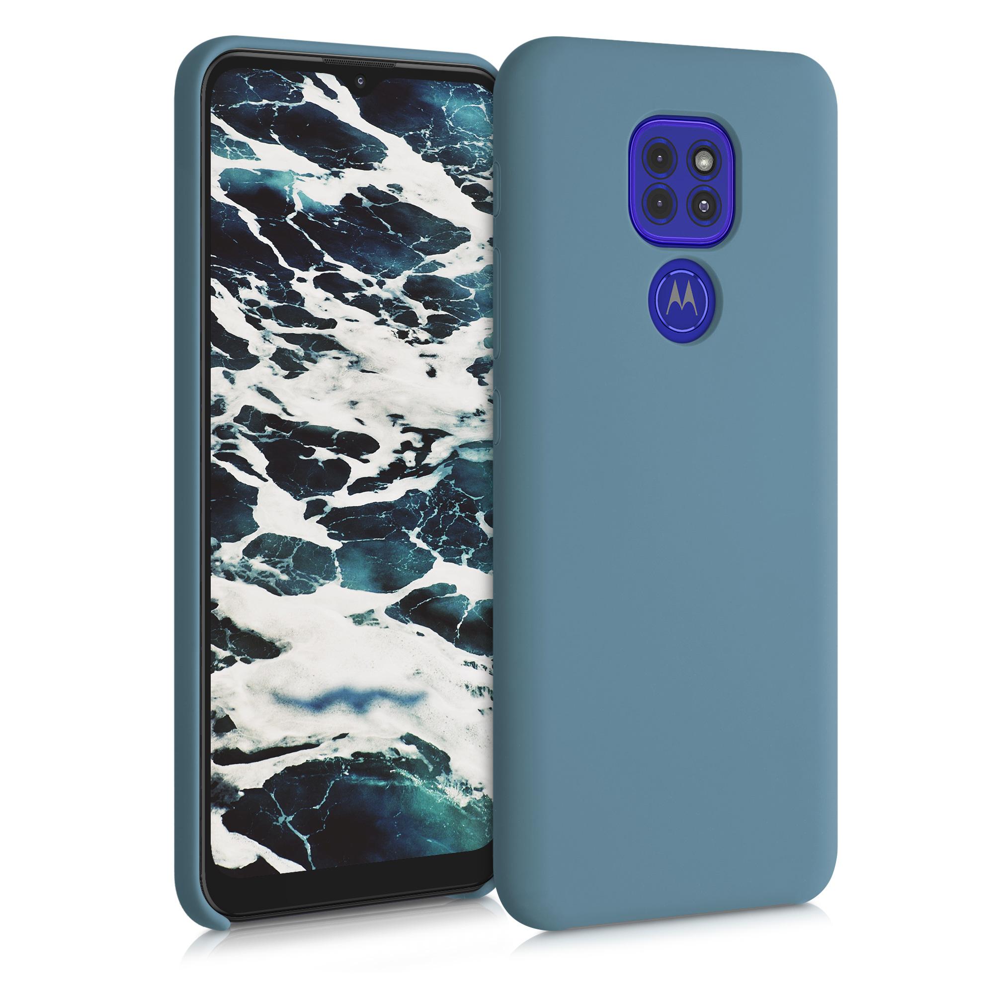 Kvalitní silikonové TPU pouzdro   obal pro Motorola Moto G9 Play / Moto E7 Plus - Arktická modrá