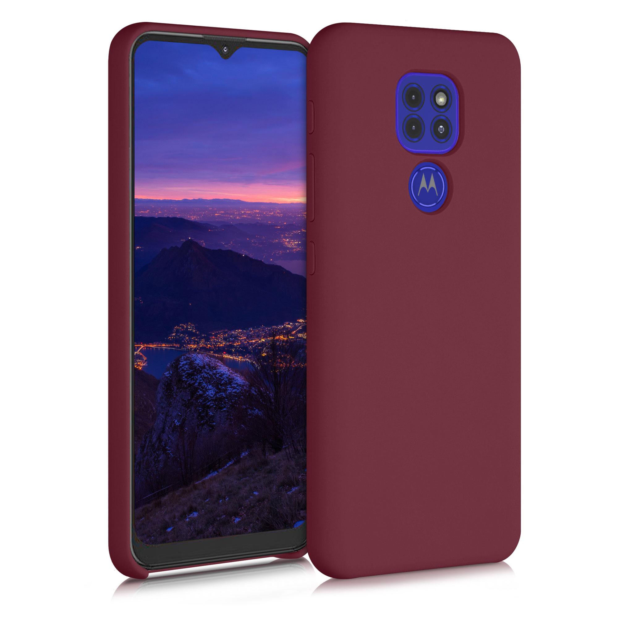 Kvalitní silikonové TPU pouzdro   obal pro Motorola Moto G9 Play / Moto E7 Plus - Rebarborová červená