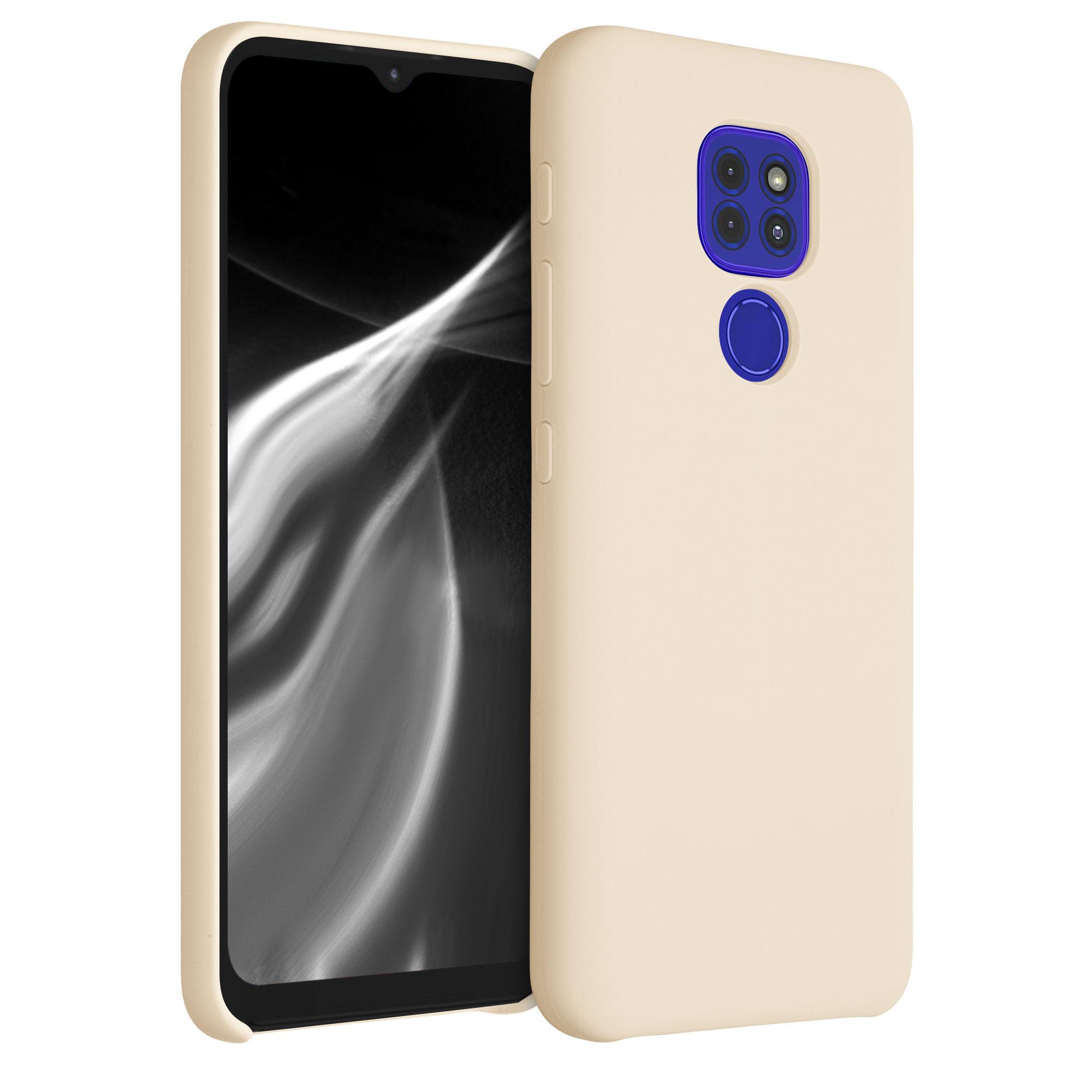 Kvalitní silikonové TPU pouzdro   obal pro Motorola Moto G9 Play / Moto E7 Plus -  Máslový krém