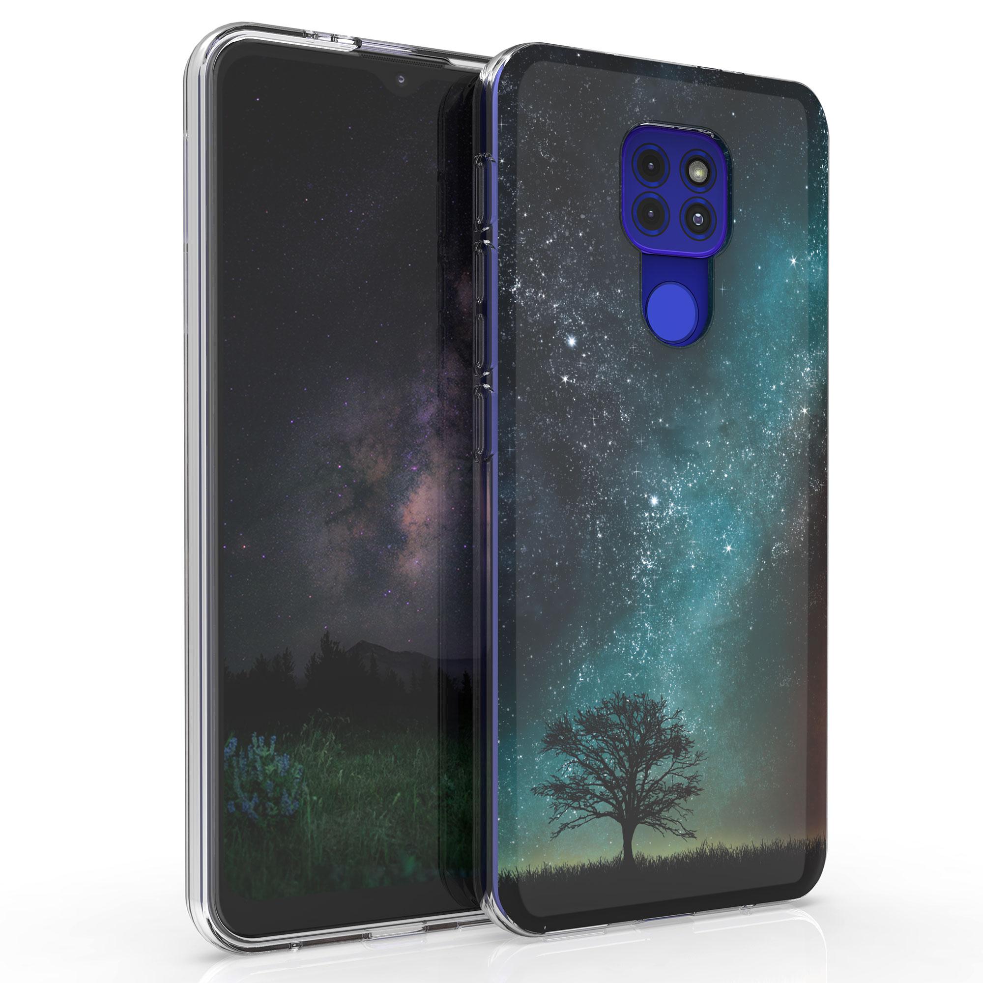 Kvalitní silikonové TPU pouzdro   obal pro Motorola Moto G9 Play / Moto E7 Plus -  Cosmic Nature Blue / Grey / Black