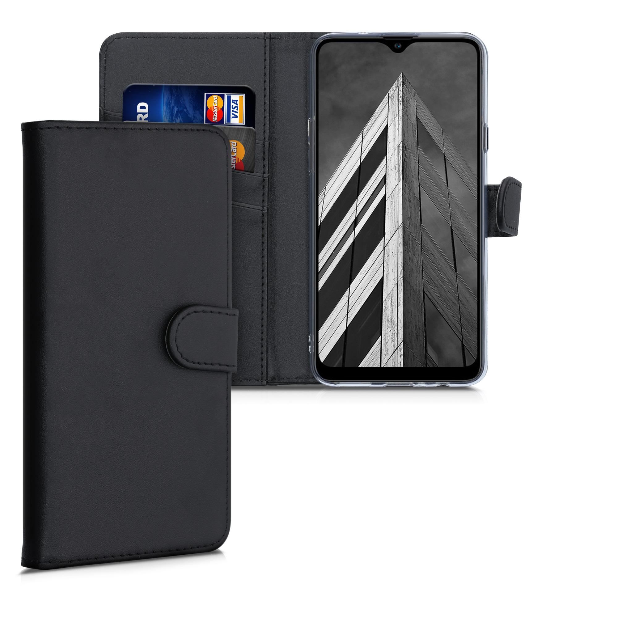 Kožené pouzdro pro Samsung A20s - černé