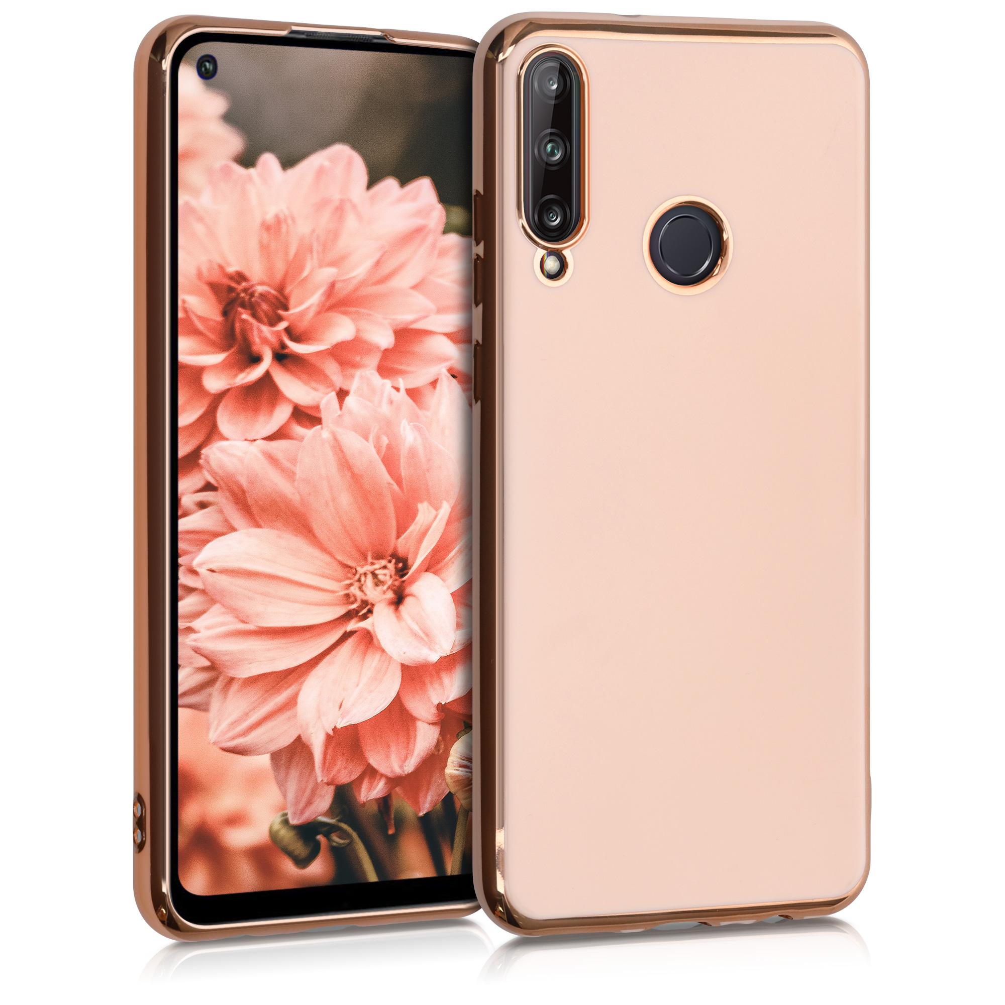 Luxusní zlaté růžové rosegold silikonové pouzdro / obal pro Huawei P40 Lite E