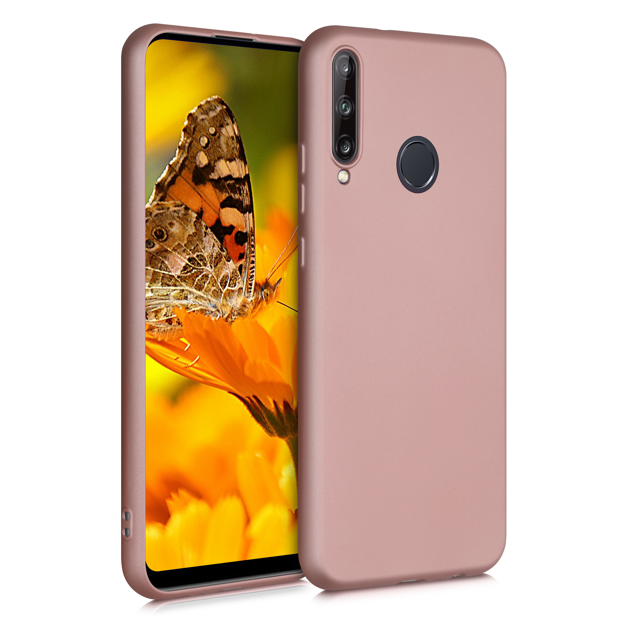 Růžové rosegold silikonové pouzdro / obal pro Huawei P40 Lite E