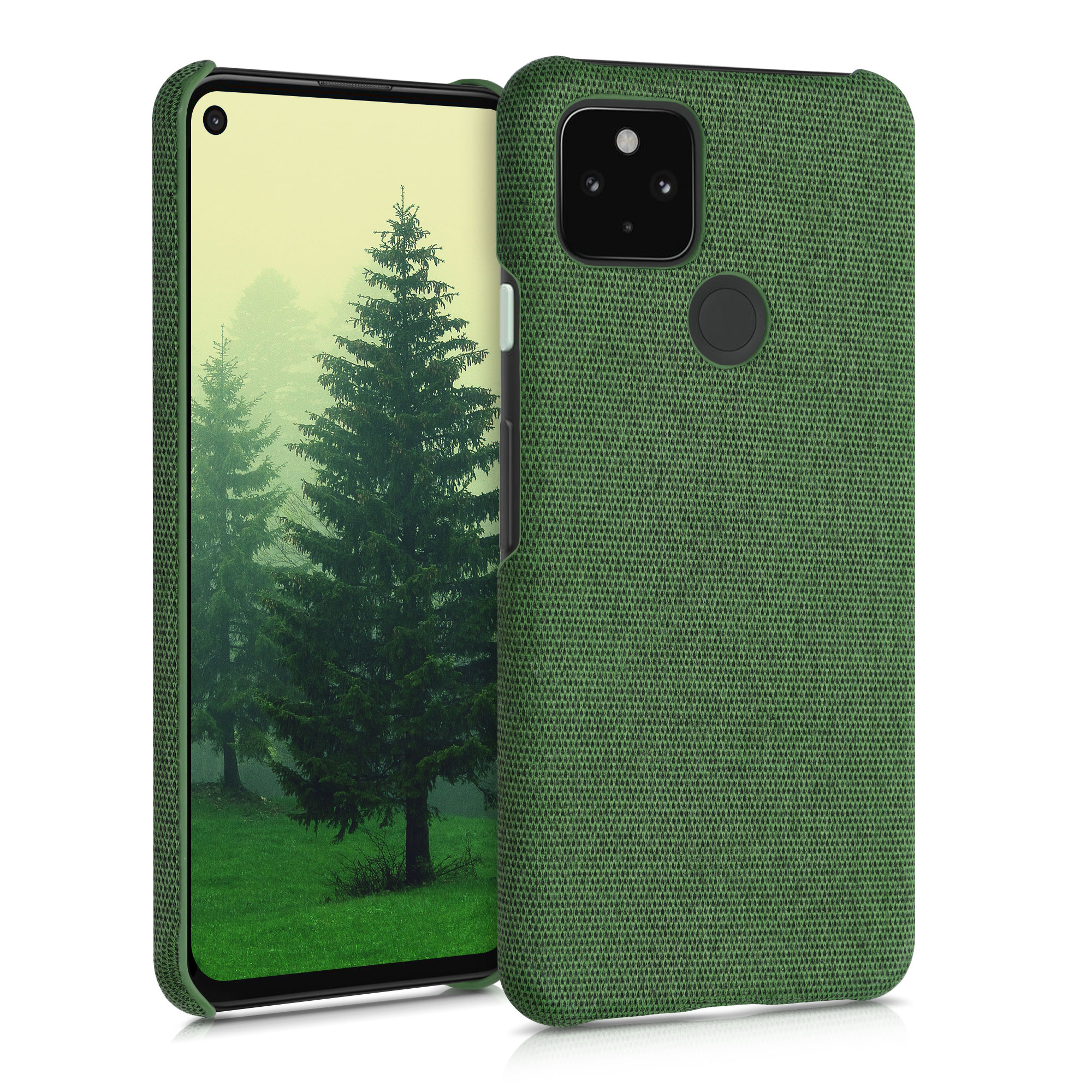 Textilní látkové pouzdro | obal pro Google Pixel 4a 5G -  Zelená