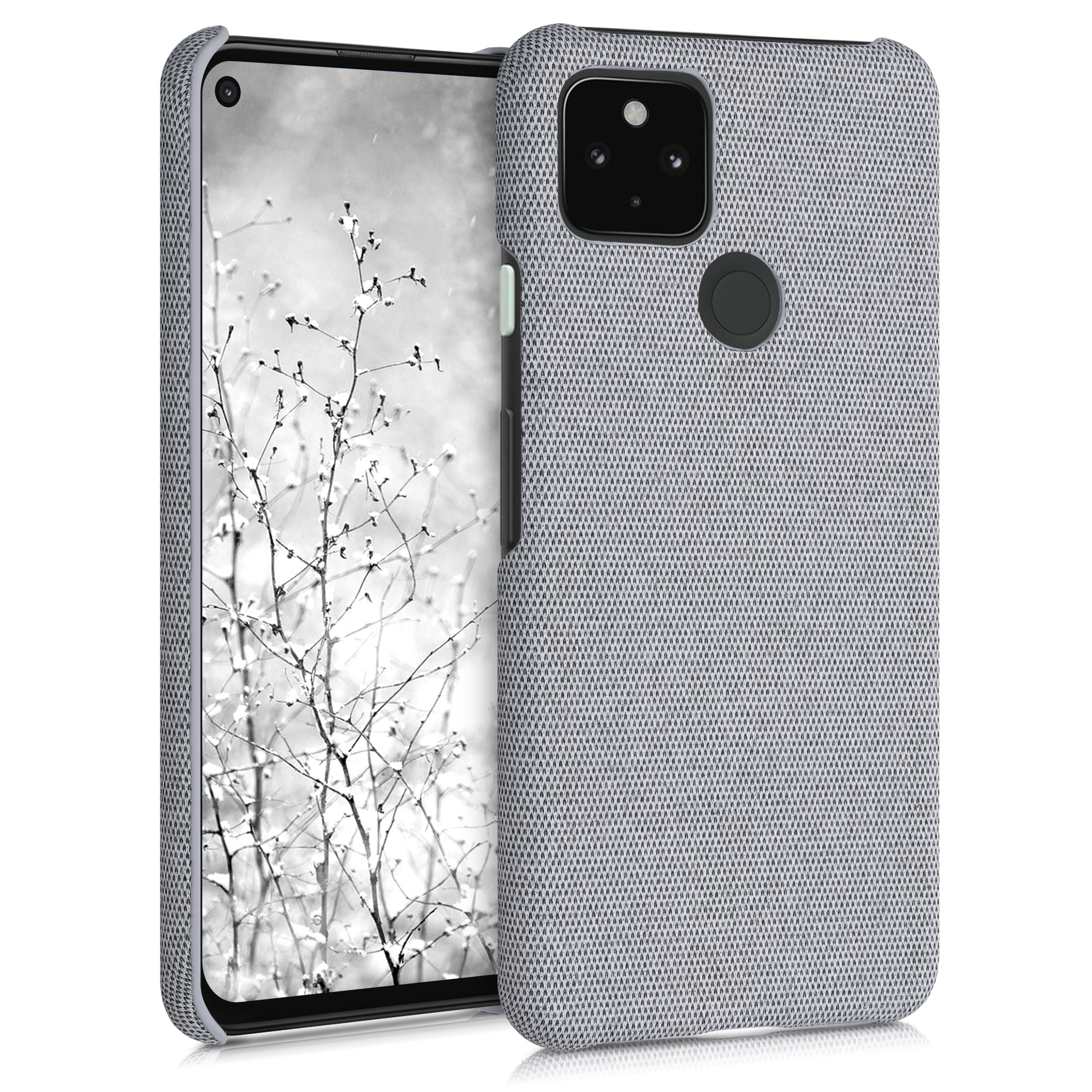 Textilní látkové pouzdro | obal pro Google Pixel 4a 5G - Světle šedá