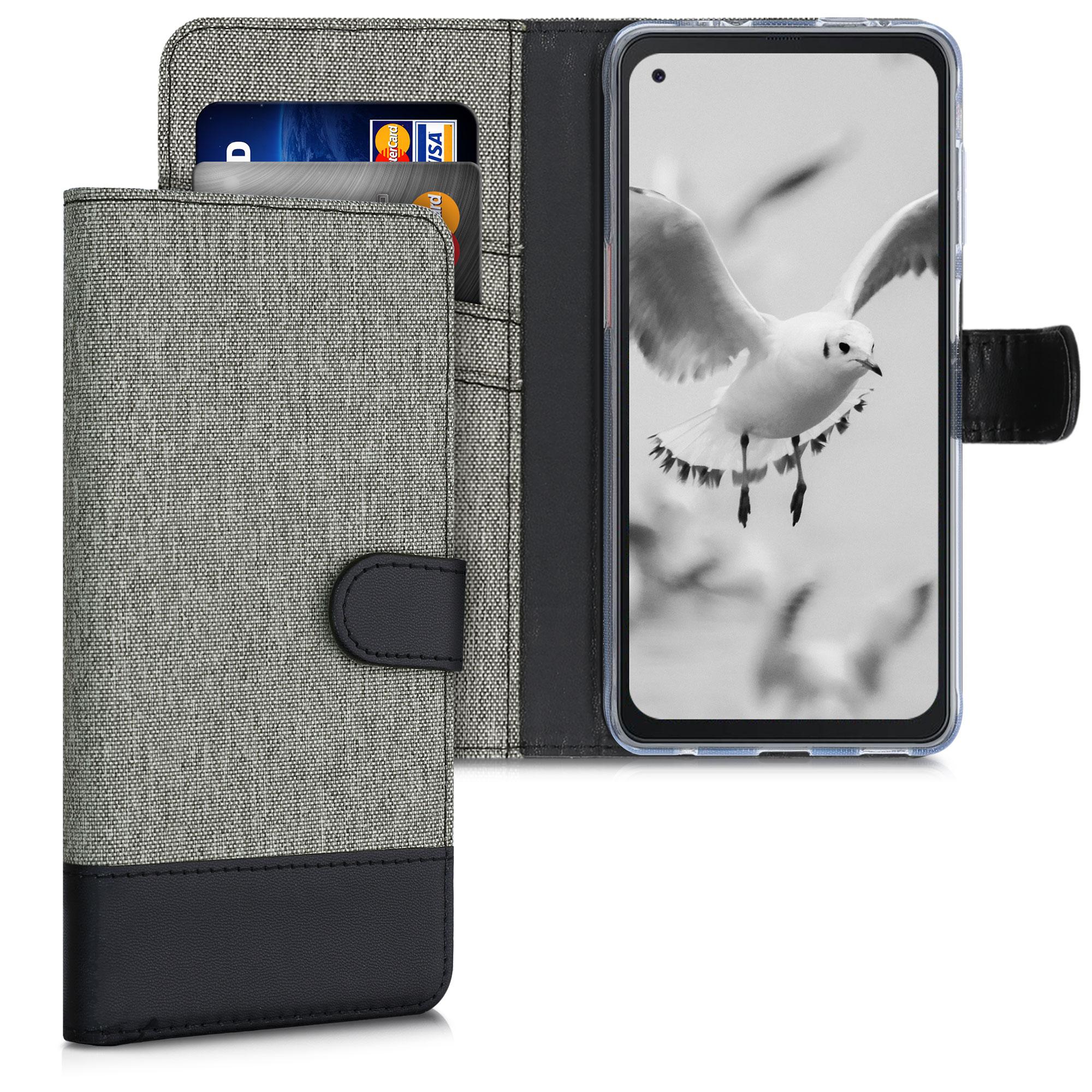 Fabricpouzdro pro Samsung Xcover Pro - šedé / černé