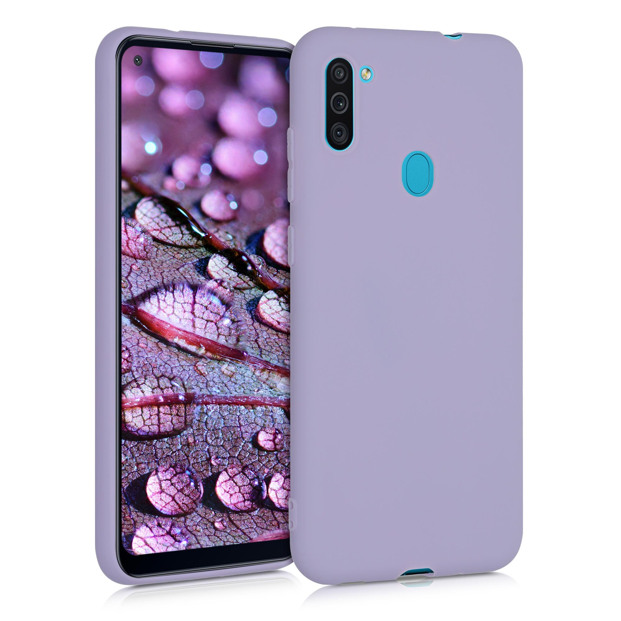 Kvalitní silikonové TPU pouzdro pro Samsung M11 - levandulové fialové