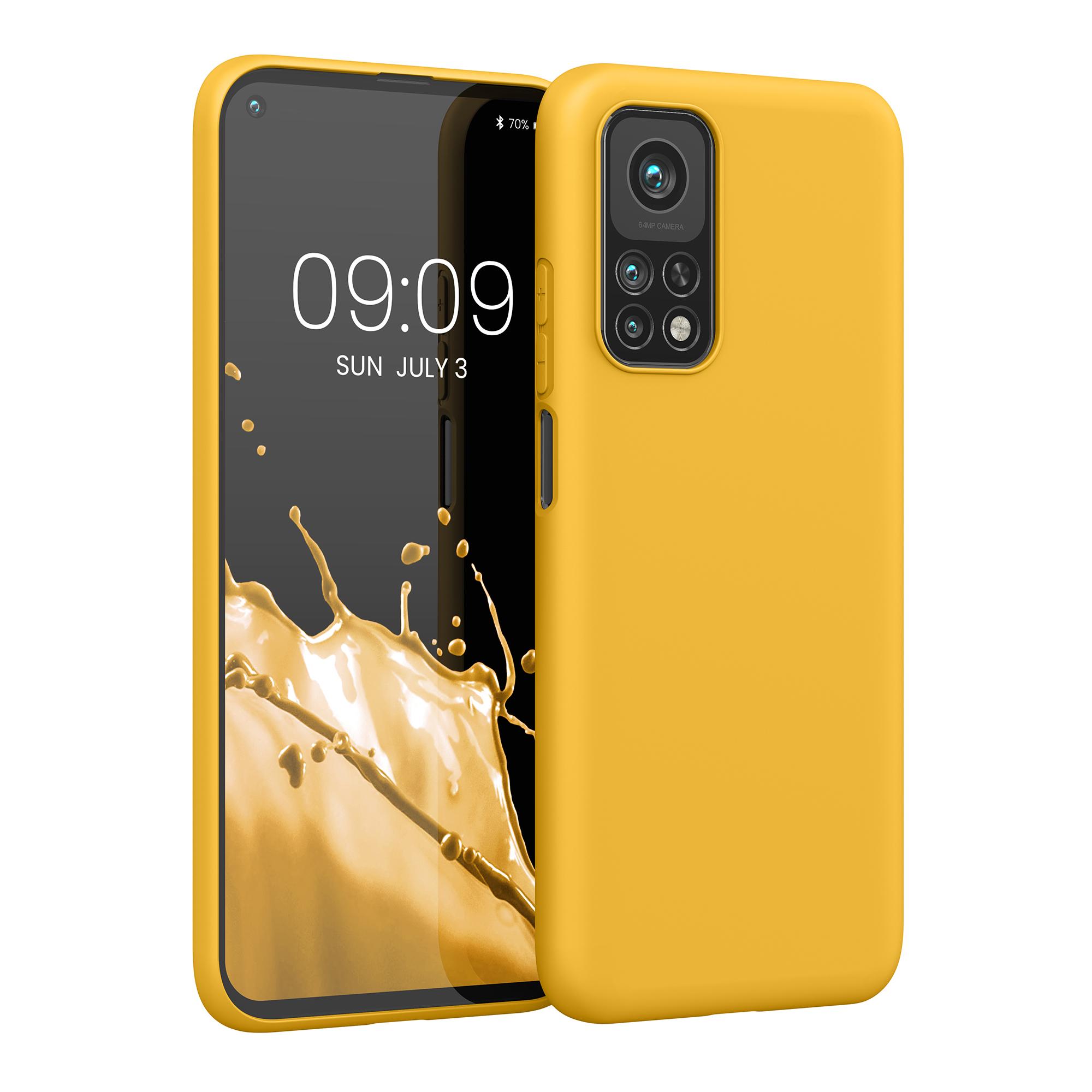Medově žluté silikonové pouzdro / obal pro Xiaomi Mi 10T / Mi 10T Pro