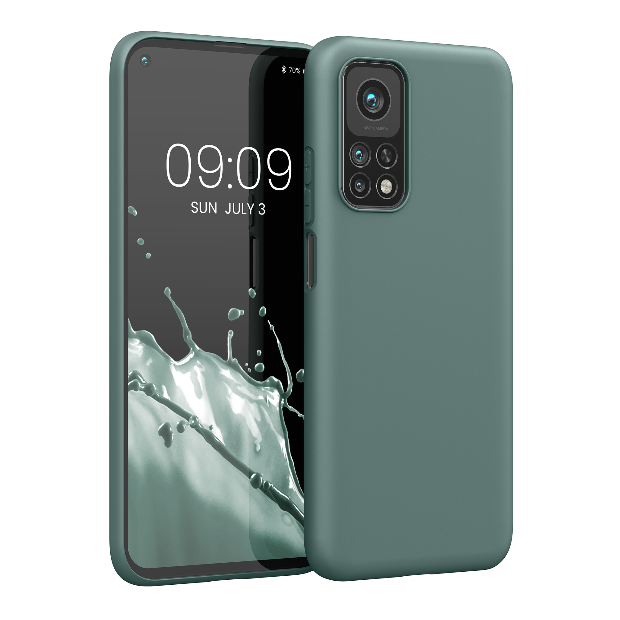 Modrozelené silikonové pouzdro / obal pro Xiaomi Mi 10T / Mi 10T Pro