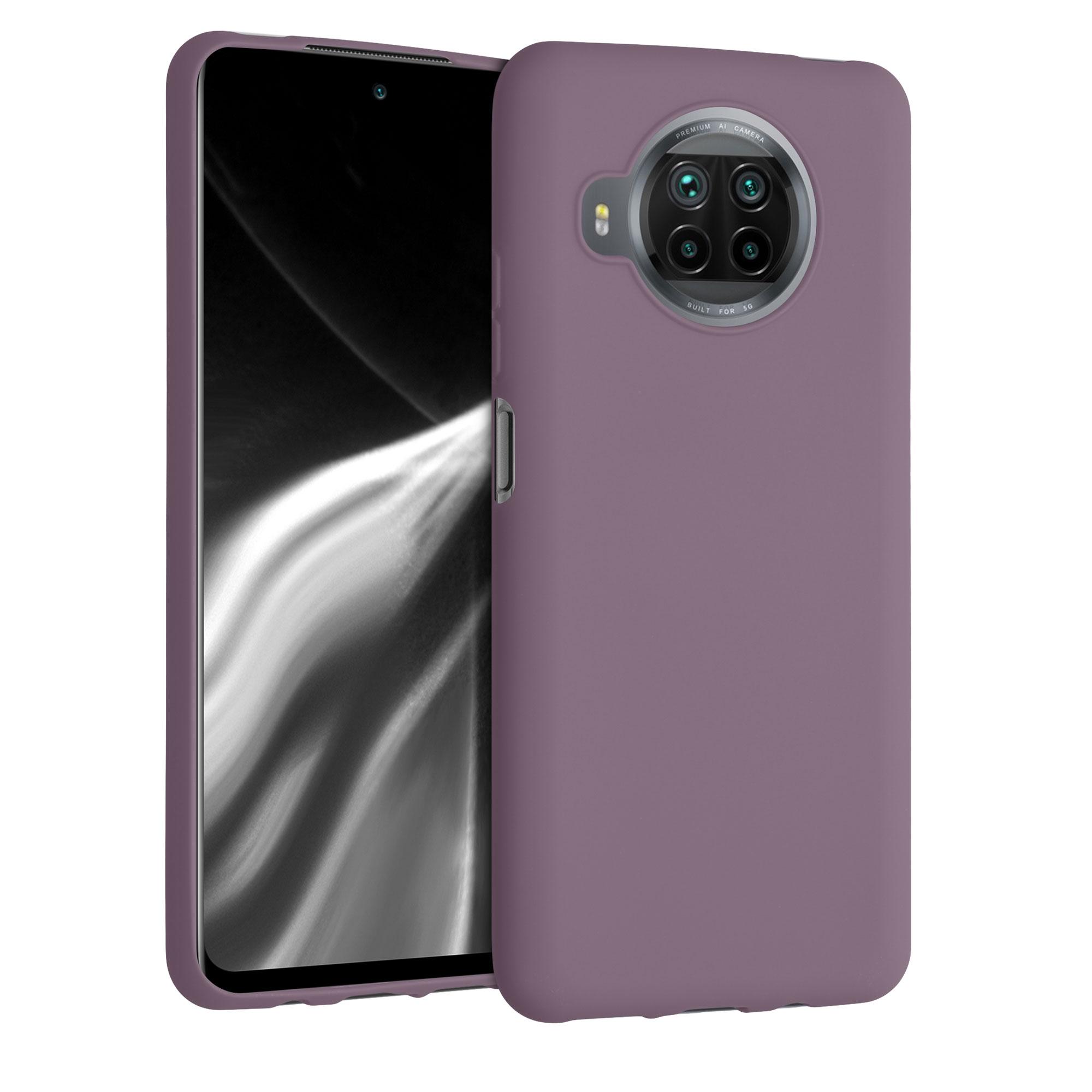 Vínově fialové silikonové TPU pouzdro / obal pro Xiaomi Mi 10T Lite