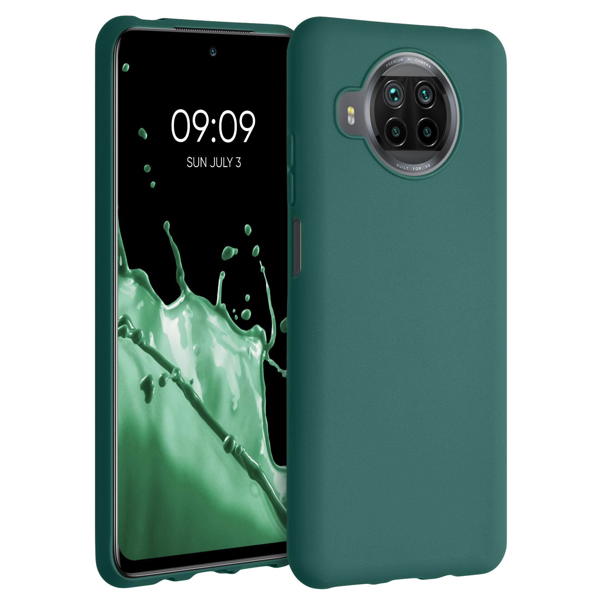 Tyrkysově zelené silikonové pouzdro / obal pro Xiaomi Mi 10T Lite