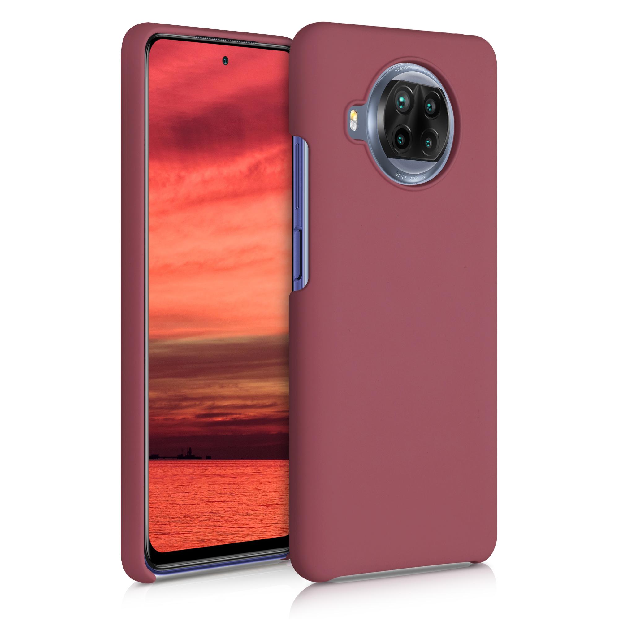 Kaštanově červené silikonové TPU pouzdro pro Xiaomi Mi 10T Lite
