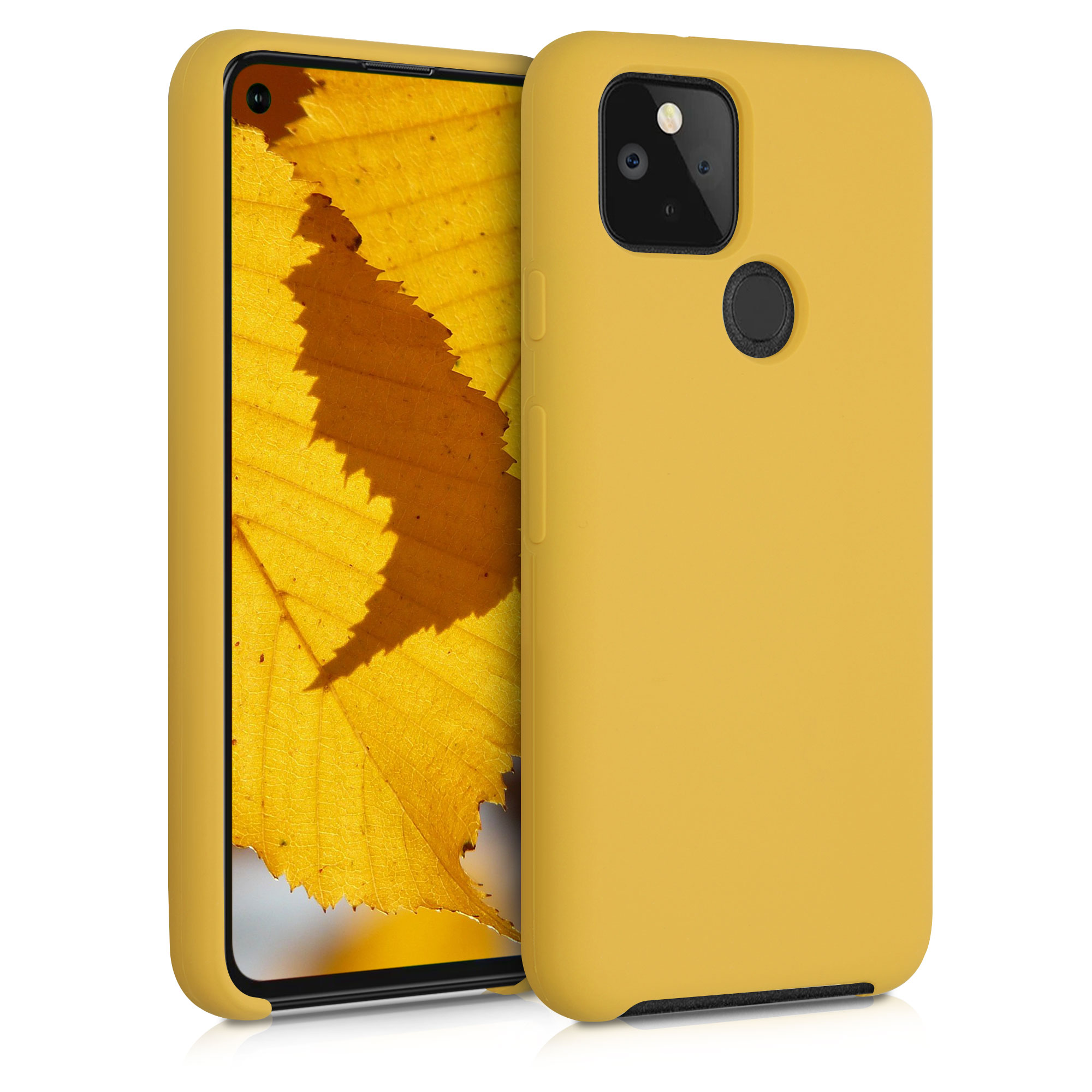 Kvalitní silikonové TPU pouzdro | obal pro Google Pixel 5 - Medově žlutá
