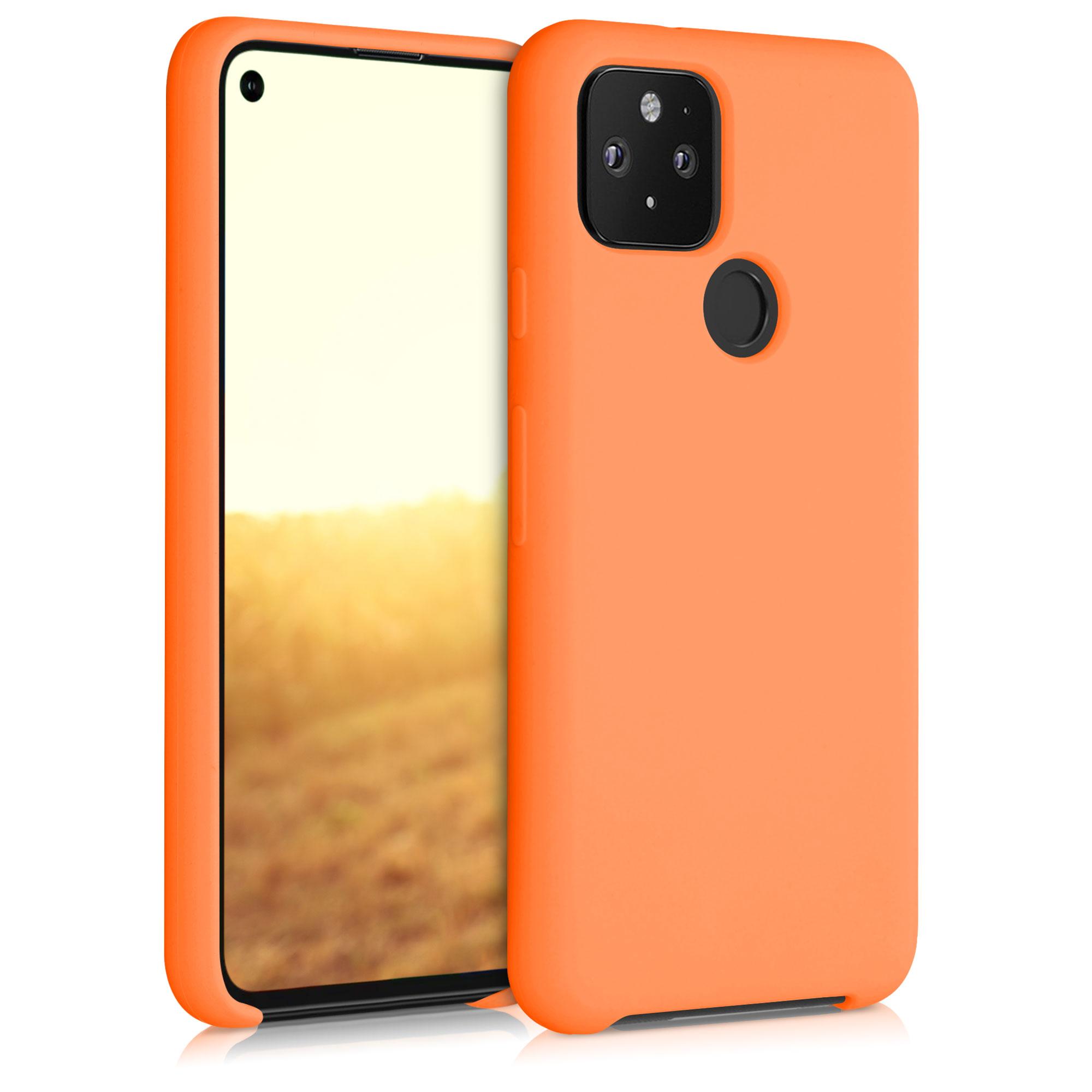 Kvalitní silikonové TPU pouzdro | obal pro Google Pixel 5 -  Kosmická oranžová