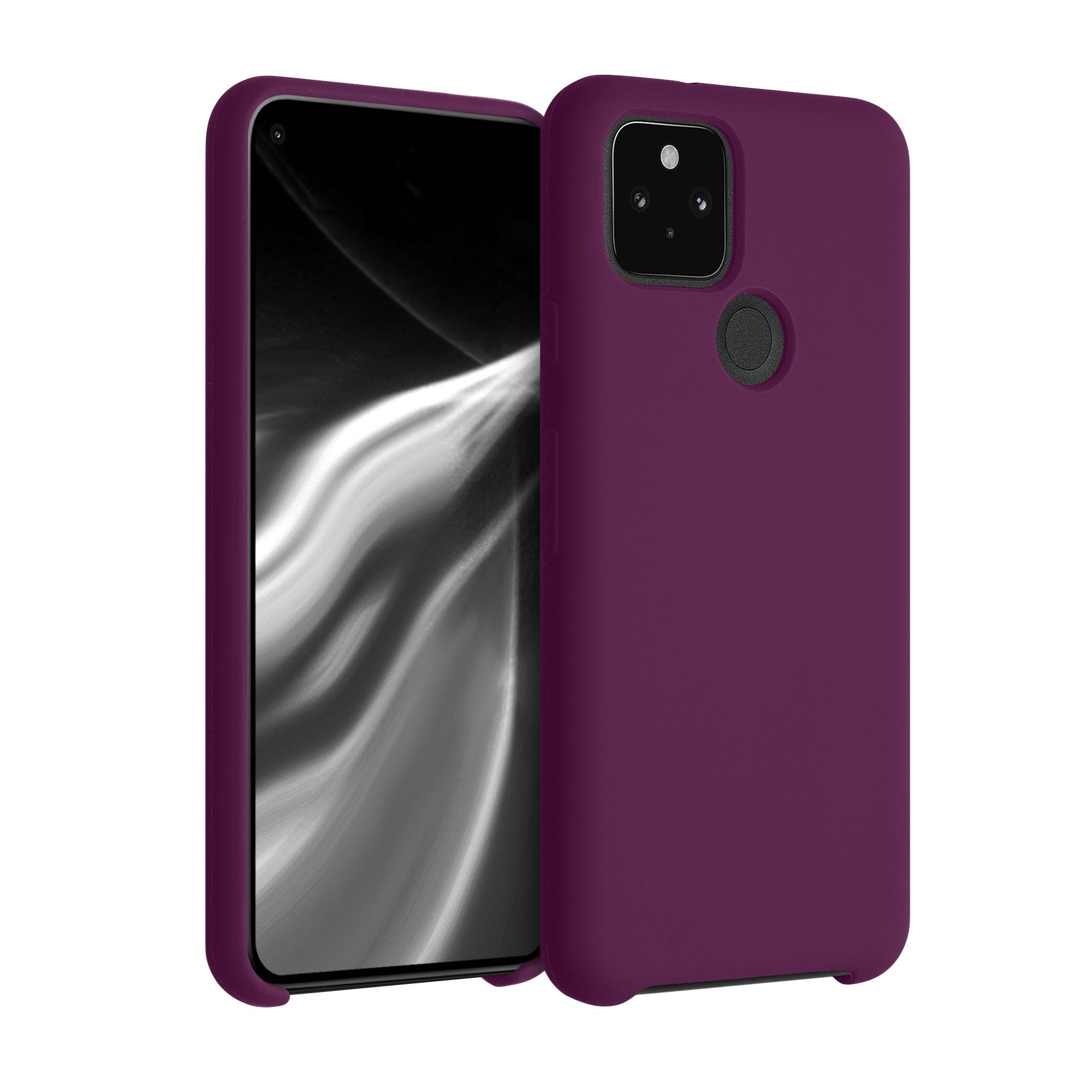 Kvalitní silikonové TPU pouzdro | obal pro Google Pixel 5 - Bordeauxská fialová