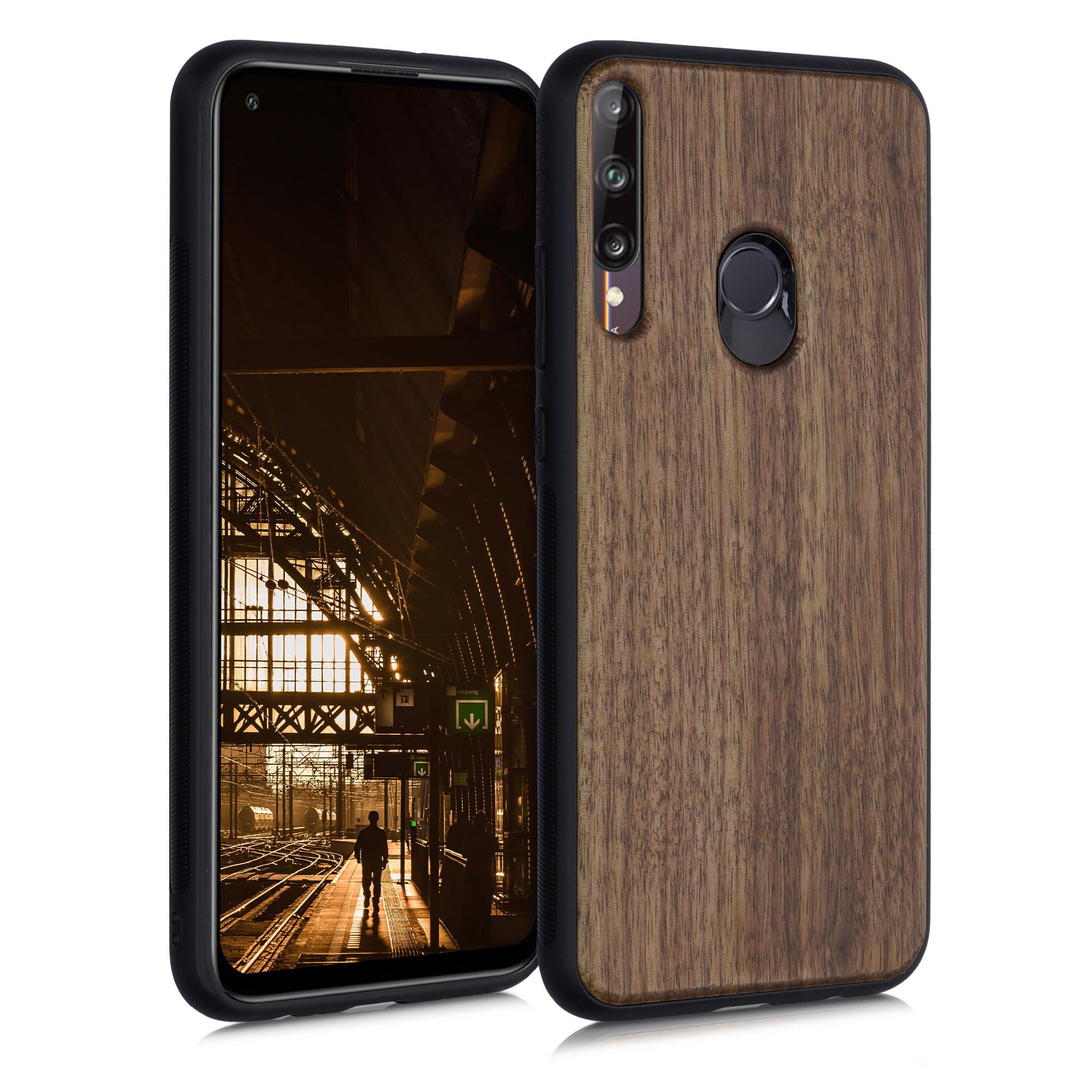 Dřevěné hnědé pouzdro / obal pro Huawei P40 Lite E