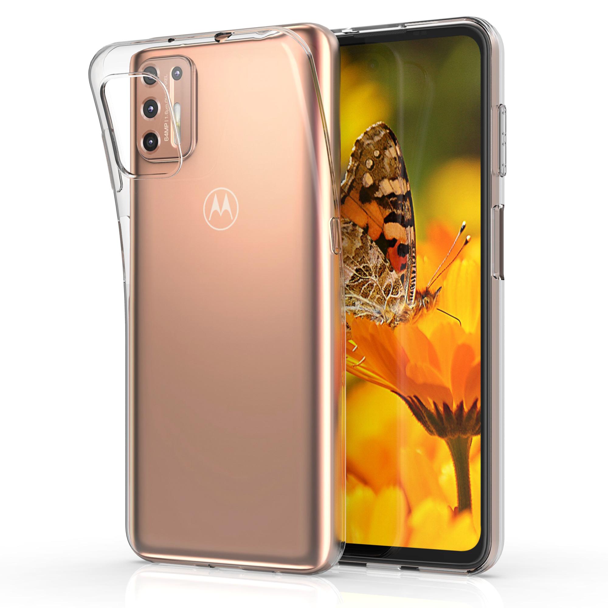 Kvalitní silikonové TPU pouzdro   obal pro Motorola Moto G9 Plus - Transparentní