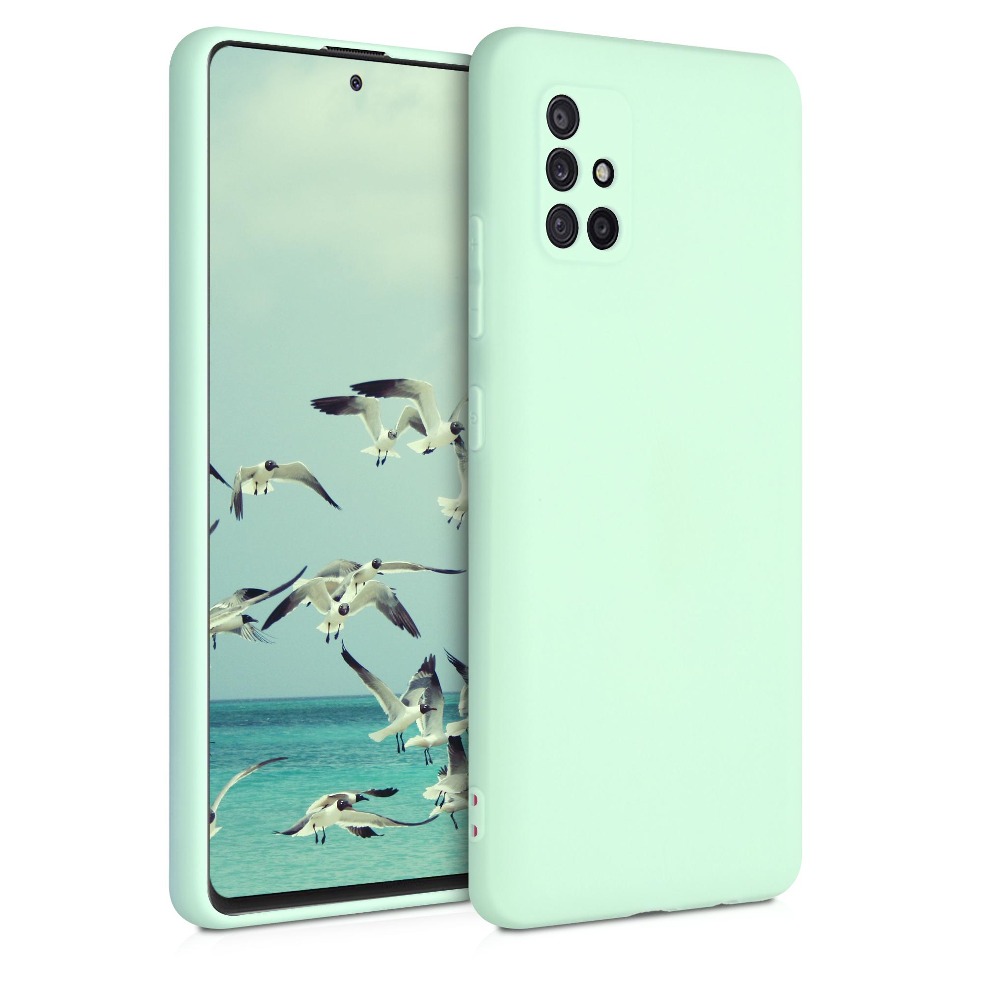 Kvalitní silikonové TPU pouzdro pro Samsung A51 5G - mint zelené matné