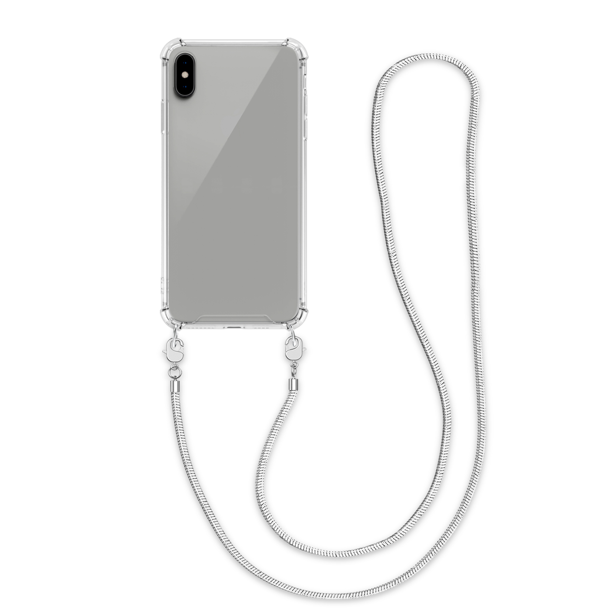 Kvalitní silikonové TPU pouzdro pro Apple iPhone XS Max - Transparent | Silver
