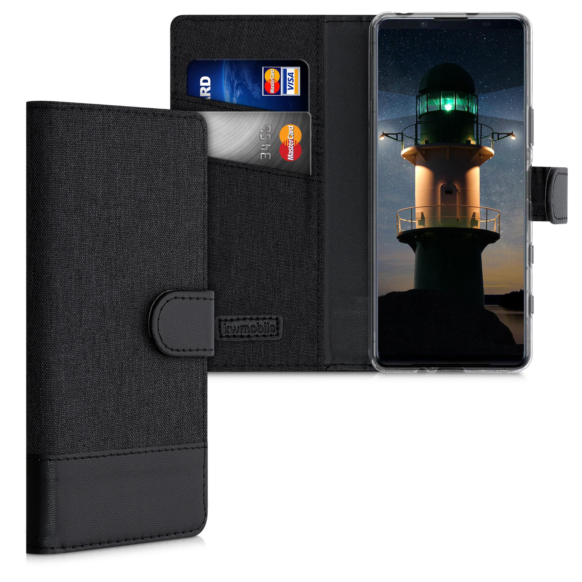 Textilní látkové pouzdro | obal pro Sony Xperia 5 II - Anthracite / černé