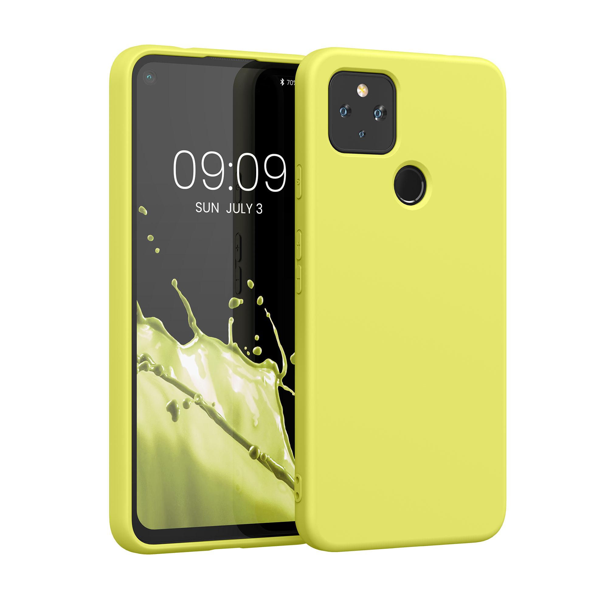 Kvalitní silikonové TPU pouzdro | obal pro Google Pixel 4a 5G - Pastelově žlutá matná