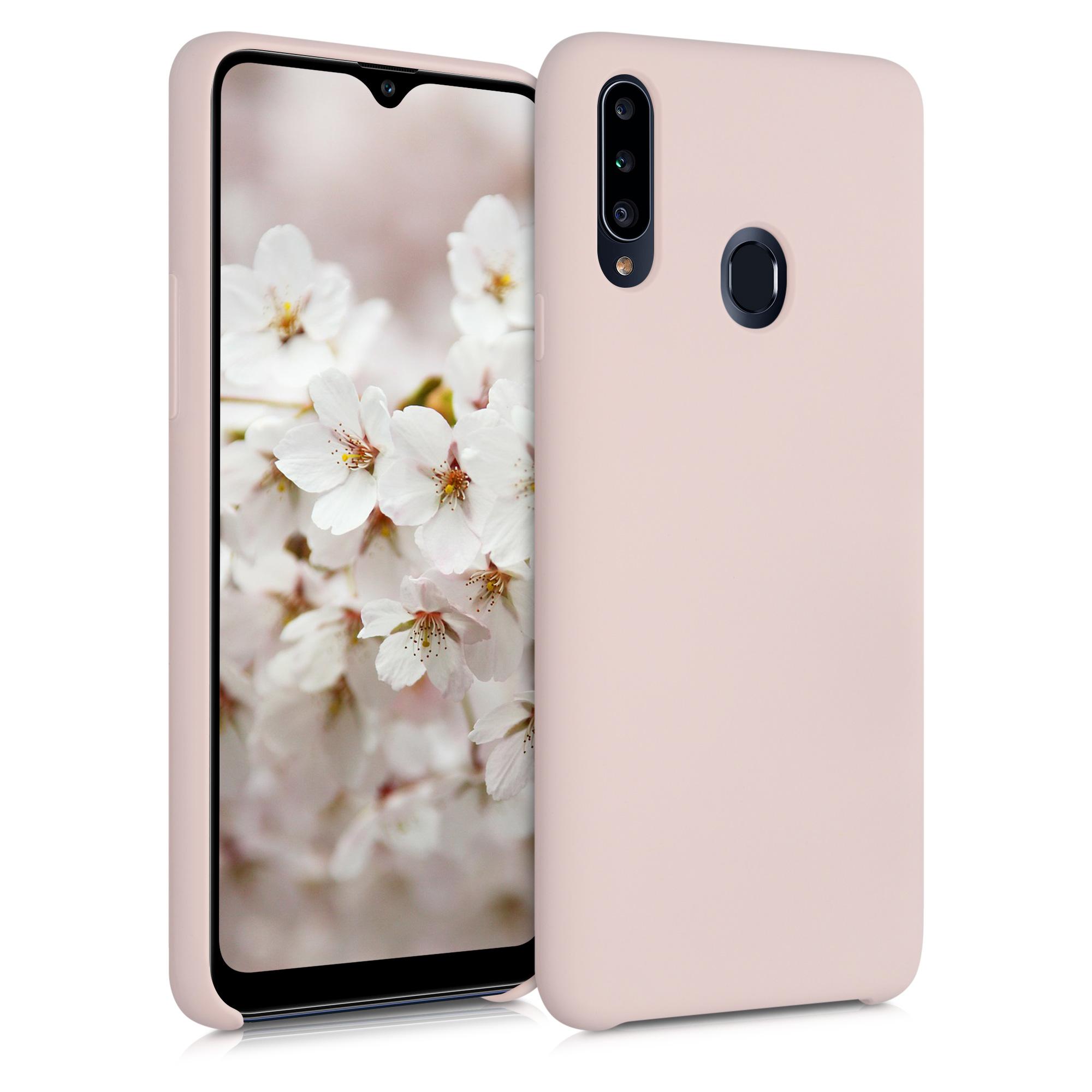 Kvalitní silikonové TPU pouzdro pro Samsung A20s - Antique Pink Matte