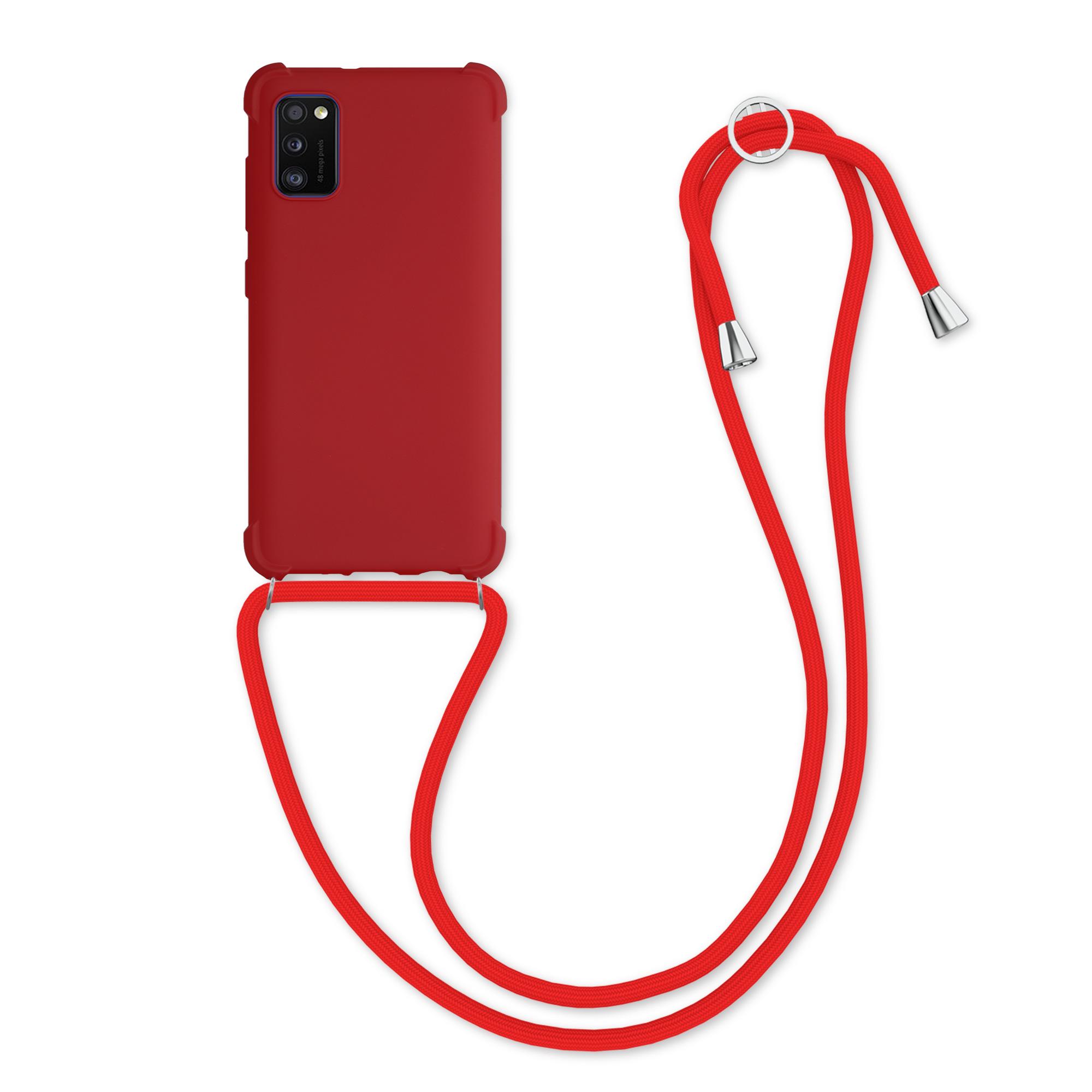 matnéTPUpouzdro pro Samsung A41 - Červené