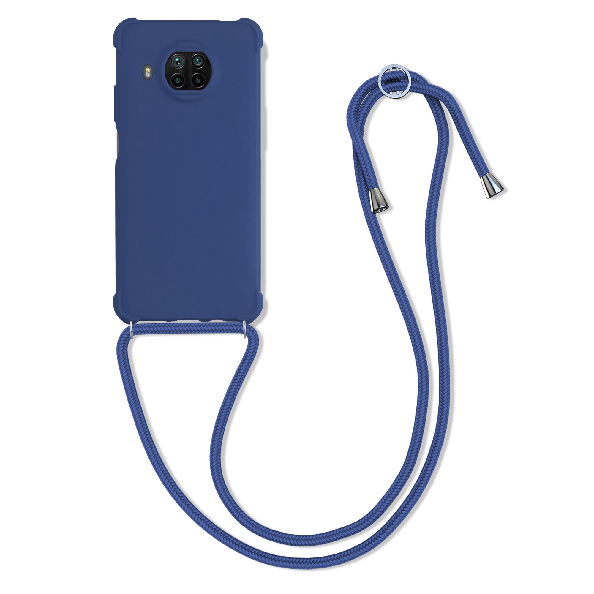 Tmavé modré silikonové pouzdro / obal na krk pro Xiaomi Mi 10T Lite