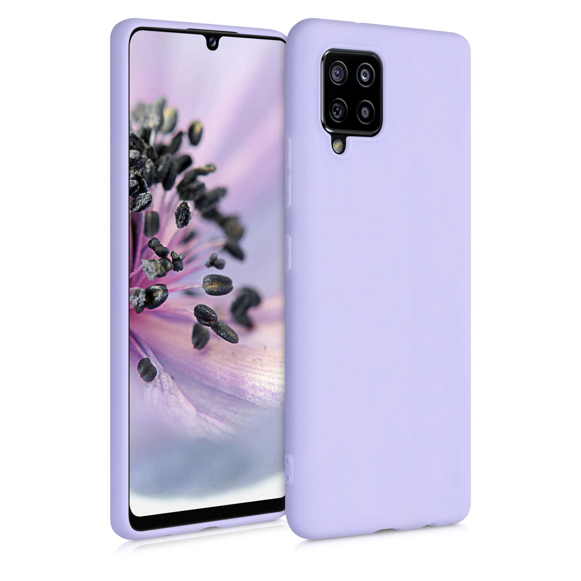 Kvalitní silikonové TPU pouzdro pro Samsung A42 5G - levandulové fialové