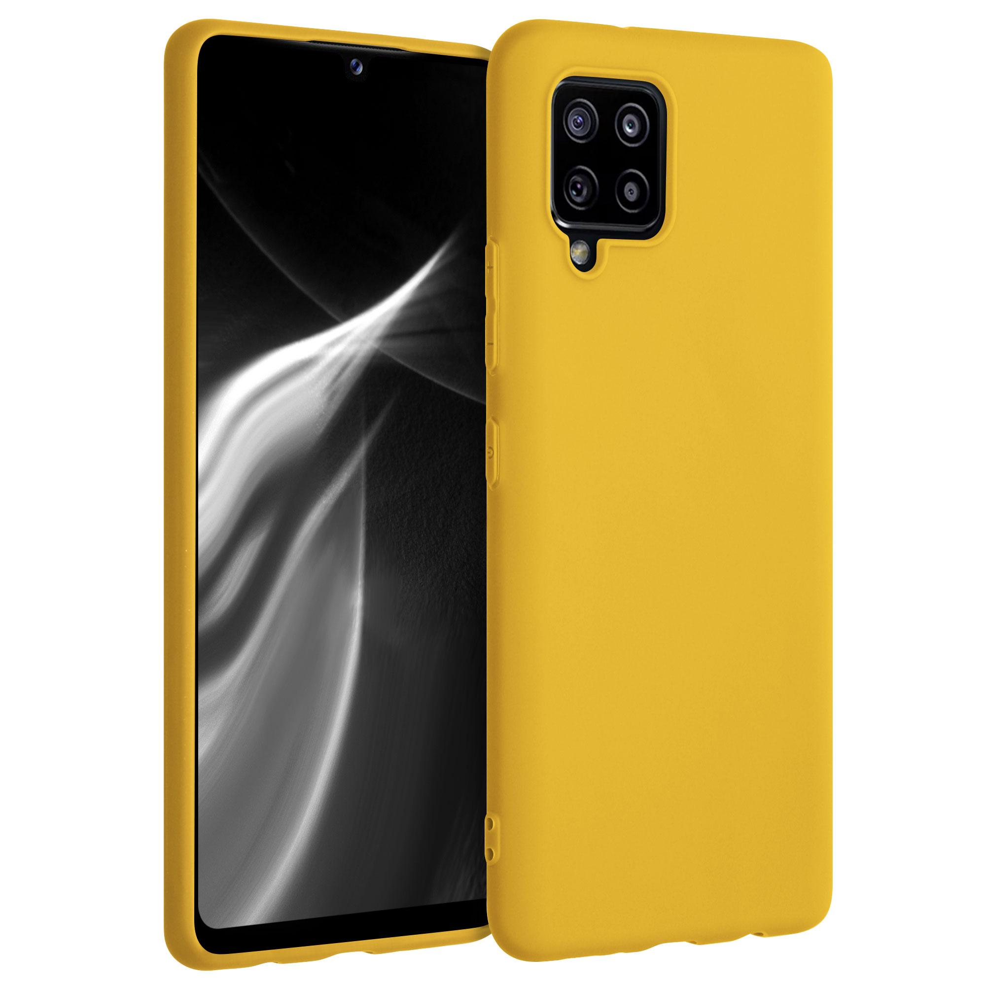 Kvalitní silikonové TPU pouzdro pro Samsung A42 5G - medově žluté