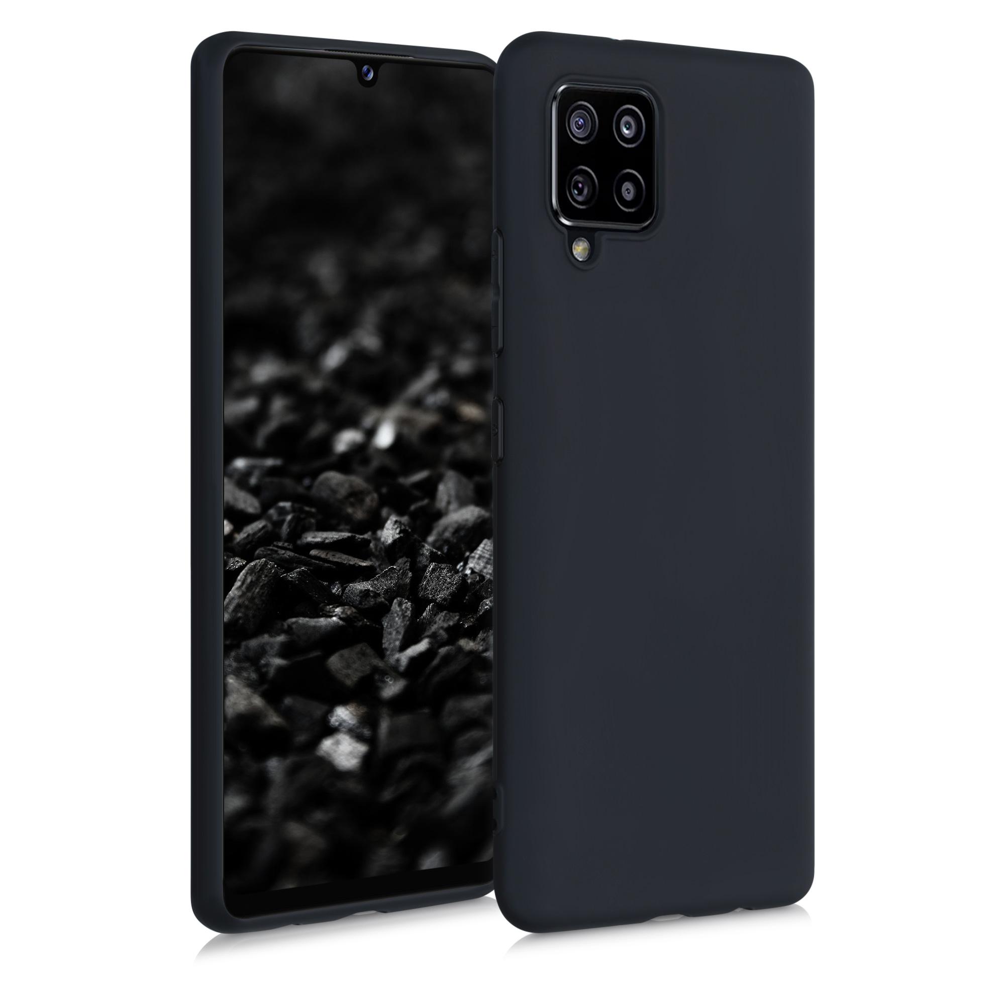 Kvalitní silikonové TPU pouzdro pro Samsung A42 5G - Black Matte