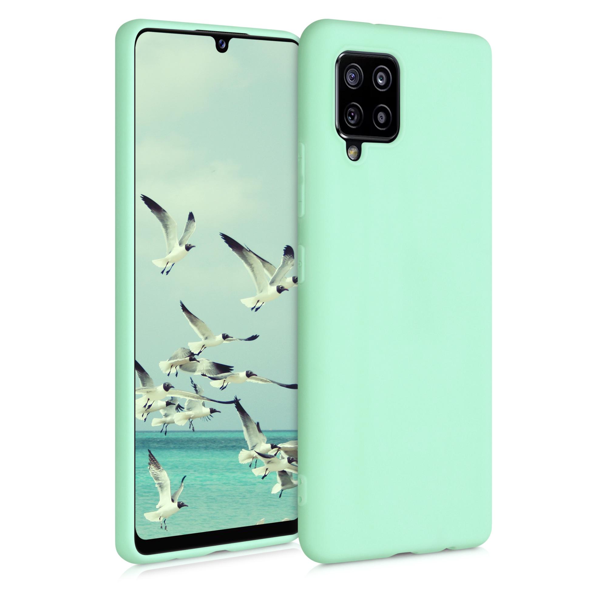 Kvalitní silikonové TPU pouzdro pro Samsung A42 5G - mint zelené matné