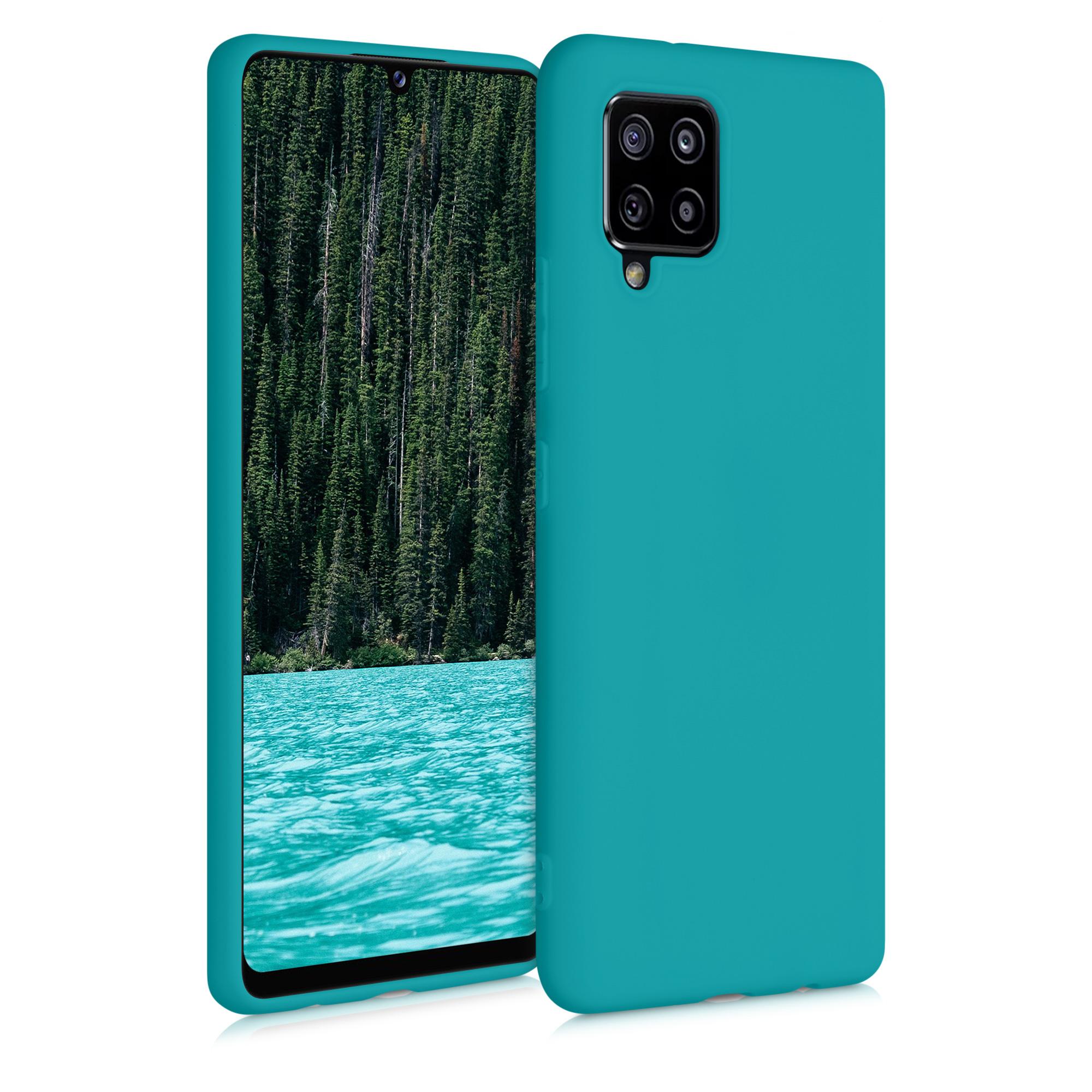 Kvalitní silikonové TPU pouzdro pro Samsung A42 5G - Teal matné
