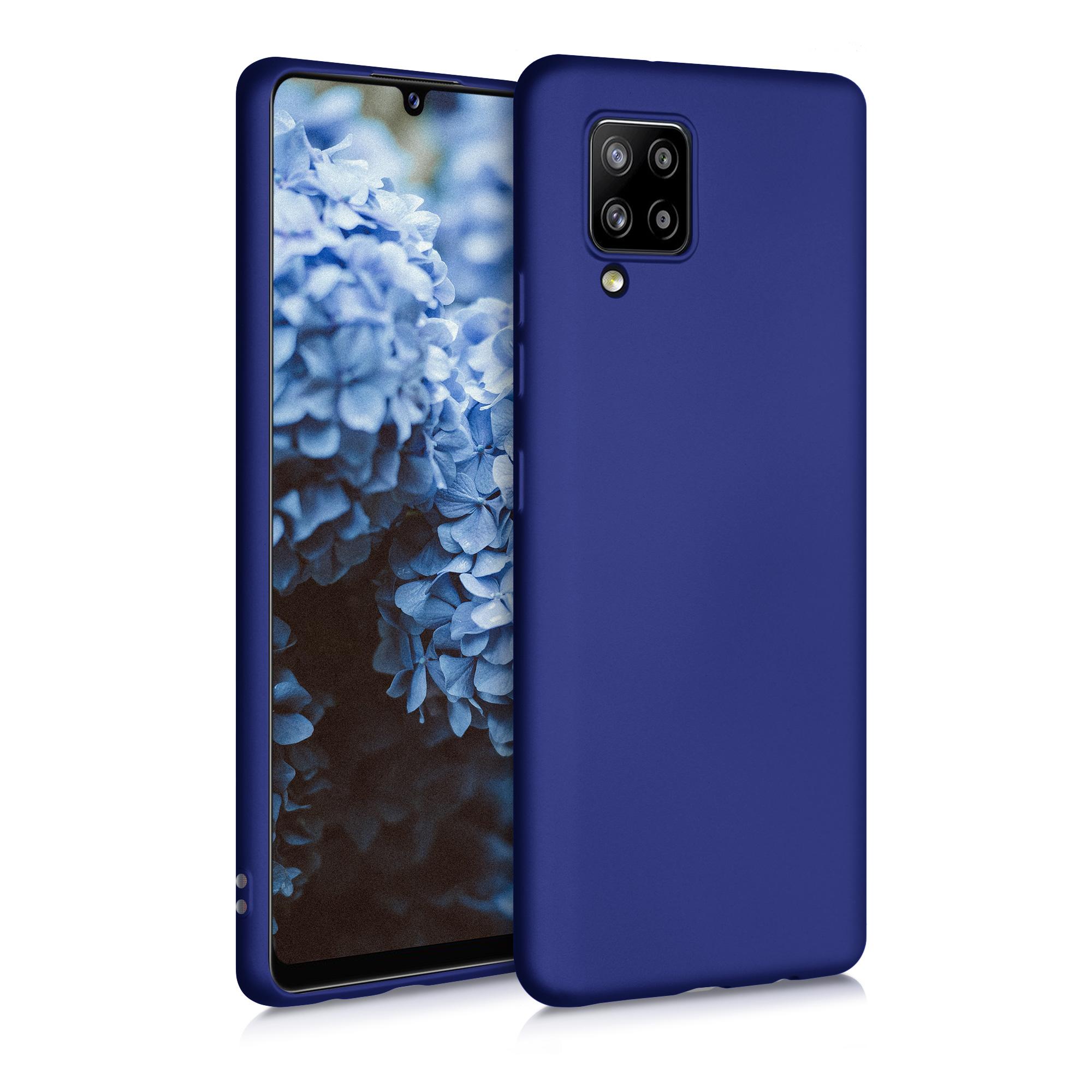 Kvalitní silikonové TPU pouzdro pro Samsung A42 5G - modrá metalíza