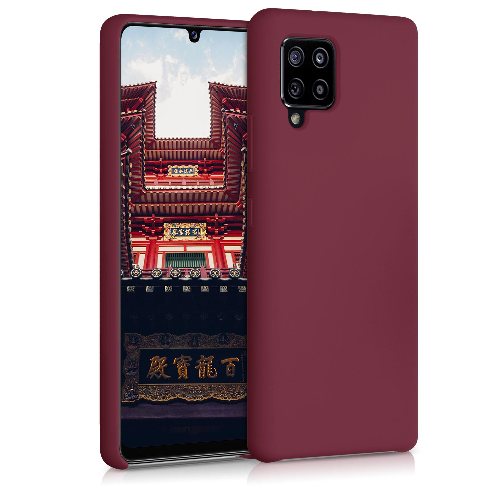 Kvalitní silikonové TPU pouzdro pro Samsung A42 5G - rebarbora červené