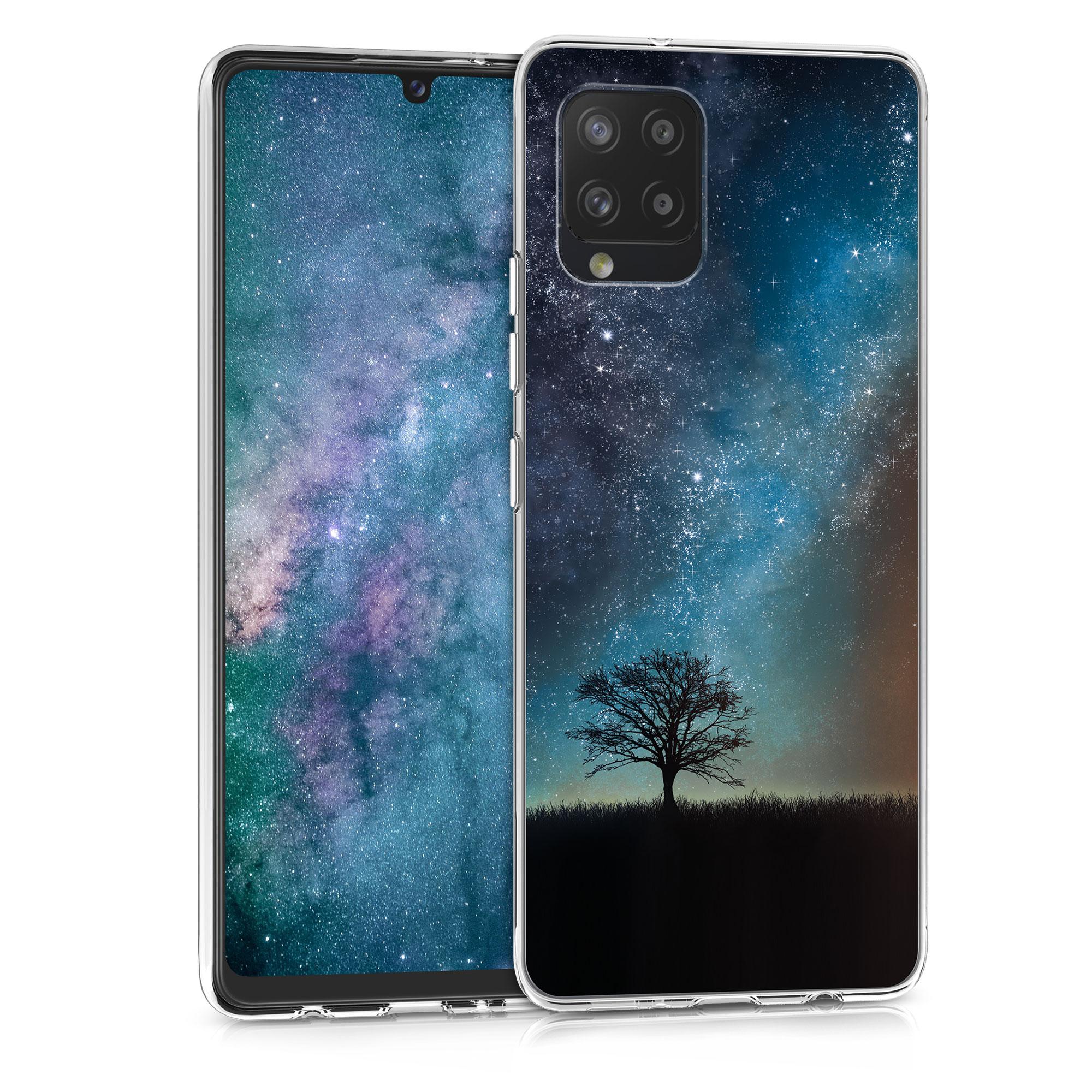 Kvalitní silikonové TPU pouzdro pro Samsung A42 5G - kosmické přírodní modré / šedé / černé