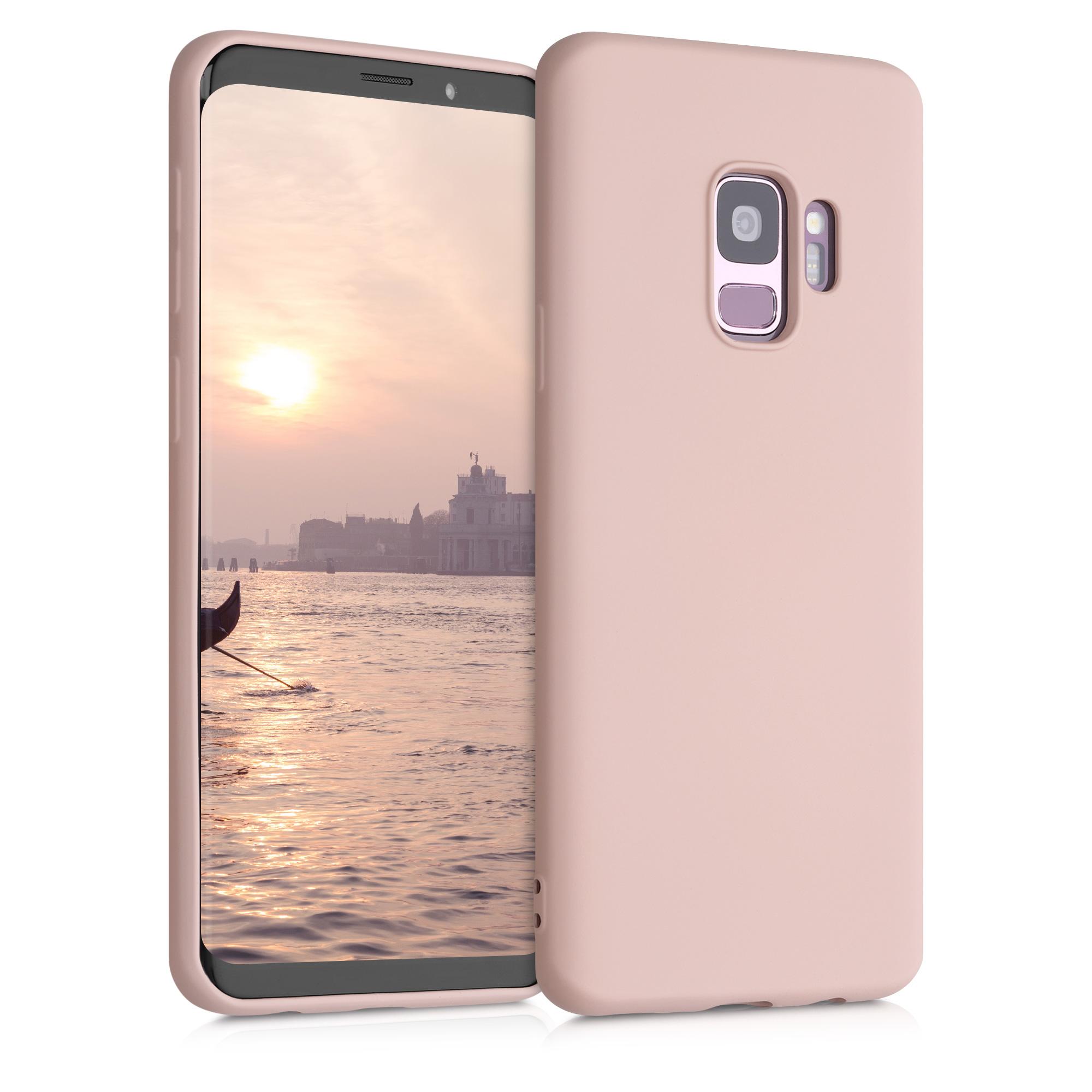 Kvalitní silikonové TPU pouzdro pro Samsung S9 - Antique růžové matné