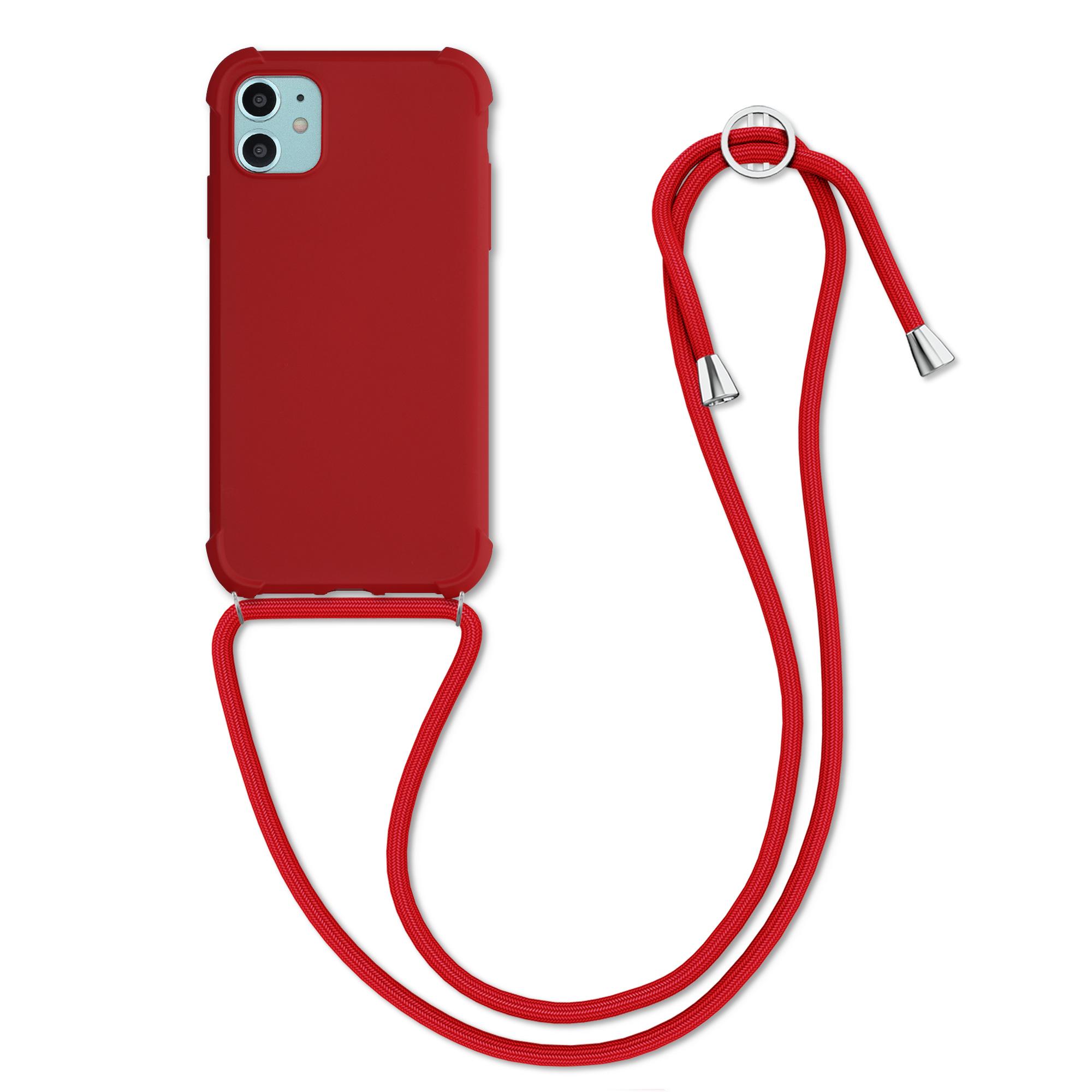 MatteTPUpouzdro pro Apple iPhone 11 - Červené