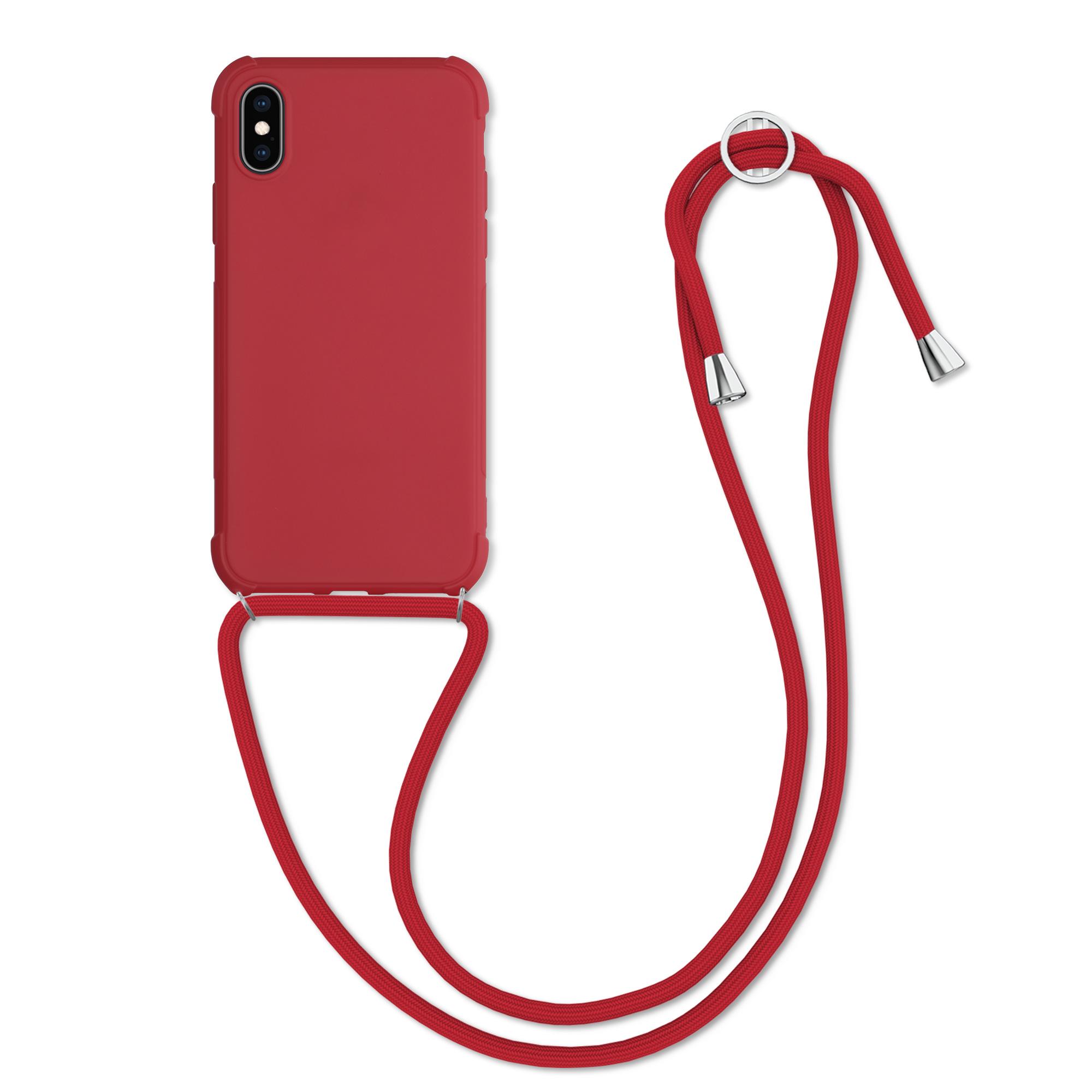 MatteTPUpouzdro pro Apple iPhone XS - Červené