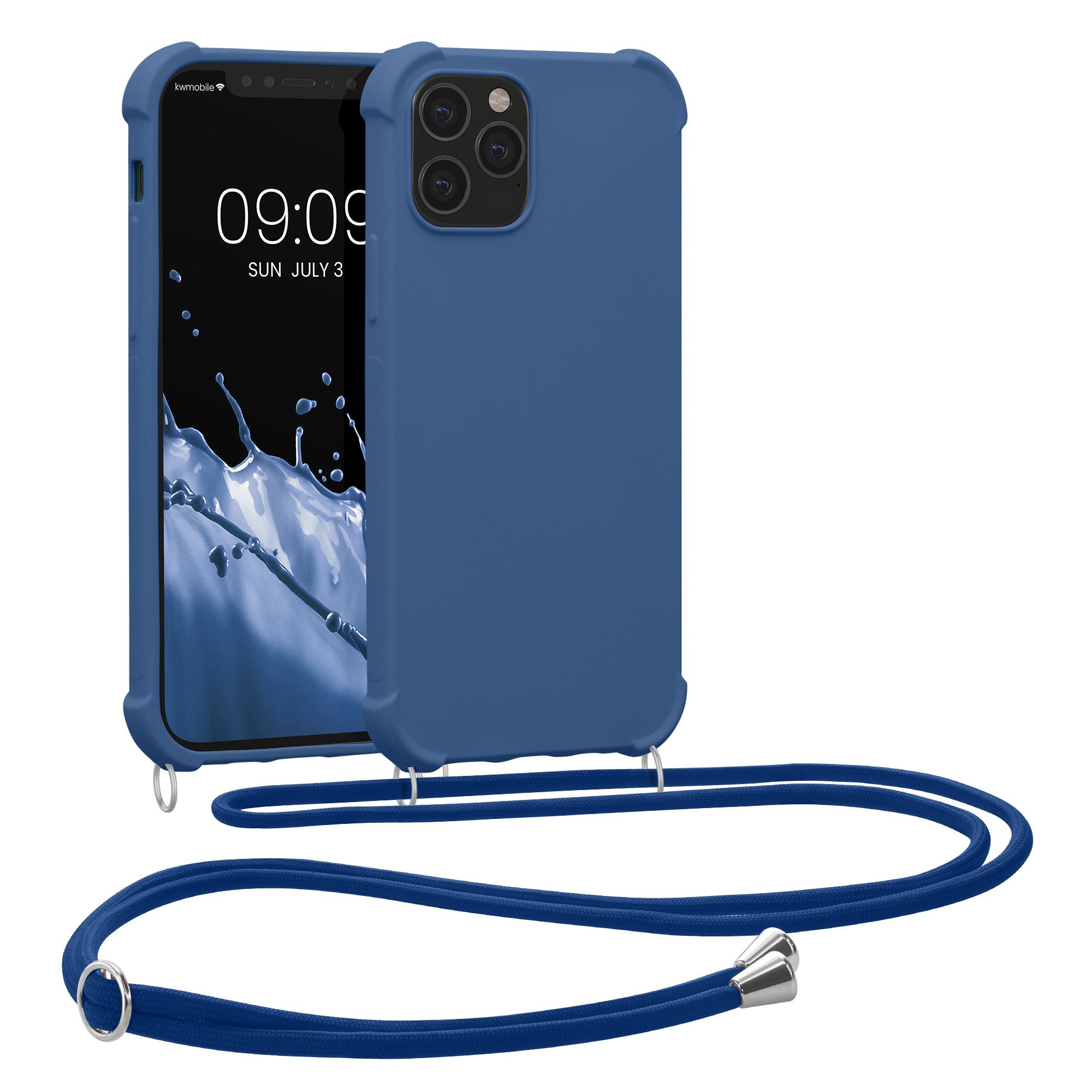 MatteTPUpouzdro pro Apple iPhone 12 / 12 Pro - Tmavě modrá