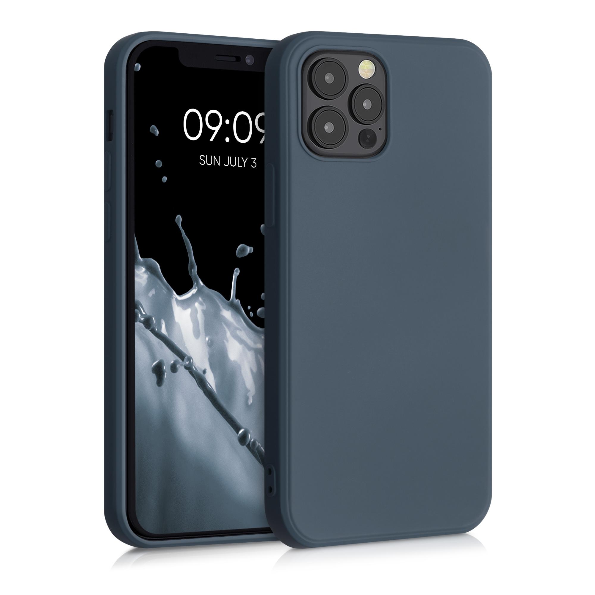 Kvalitní silikonové TPU pouzdro pro Apple iPhone 12 / 12 Pro - Šedá břidlice