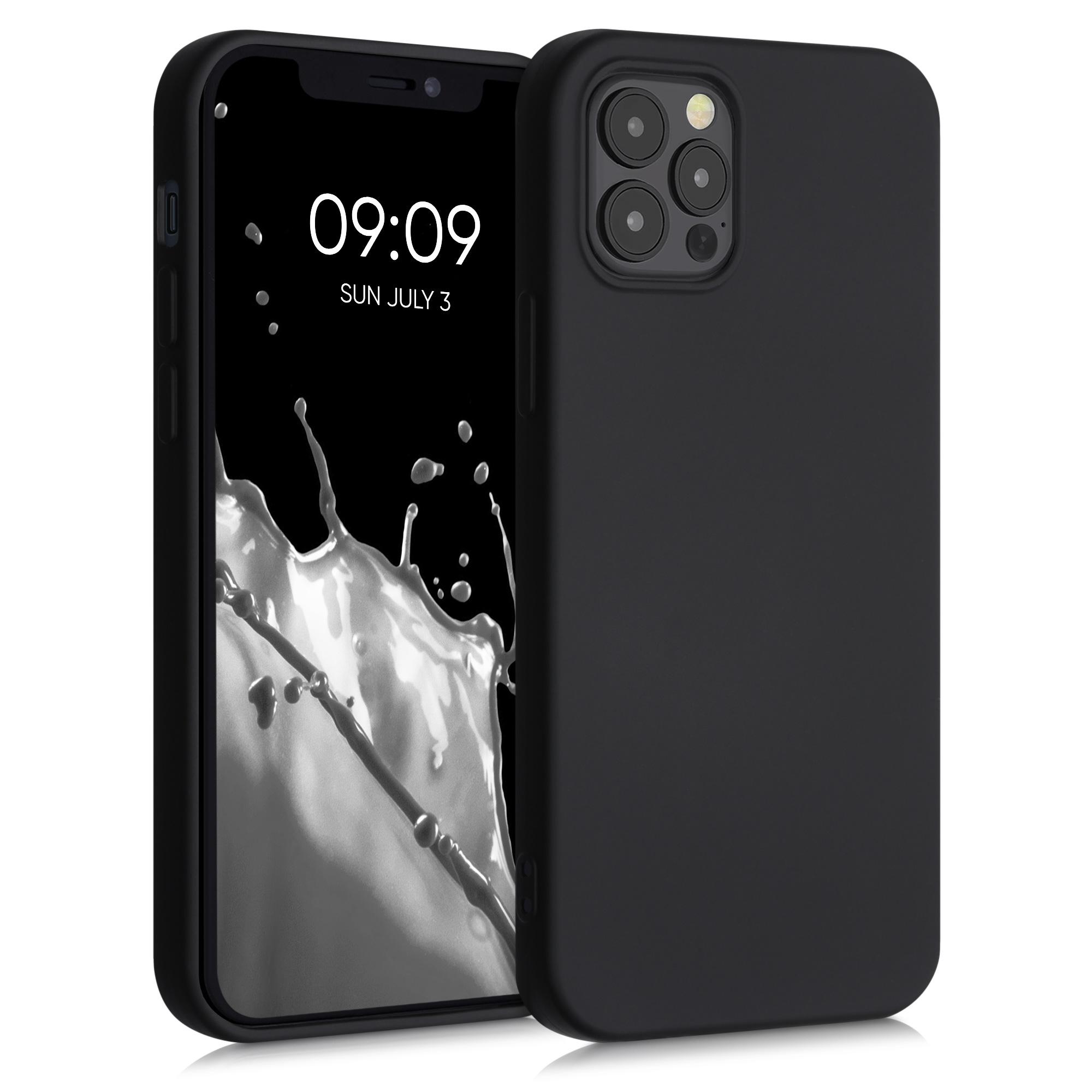 Kvalitní silikonové TPU pouzdro pro Apple iPhone 12 / 12 Pro - Black Matte